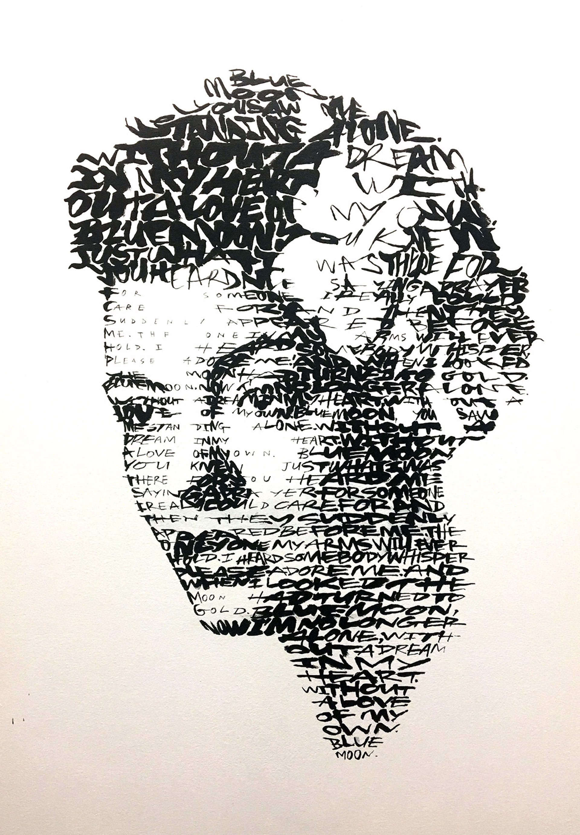 Billie Holiday (Text: Blue Moon by Richard Rogers and Lorenz Hart 1934) by David Hollier