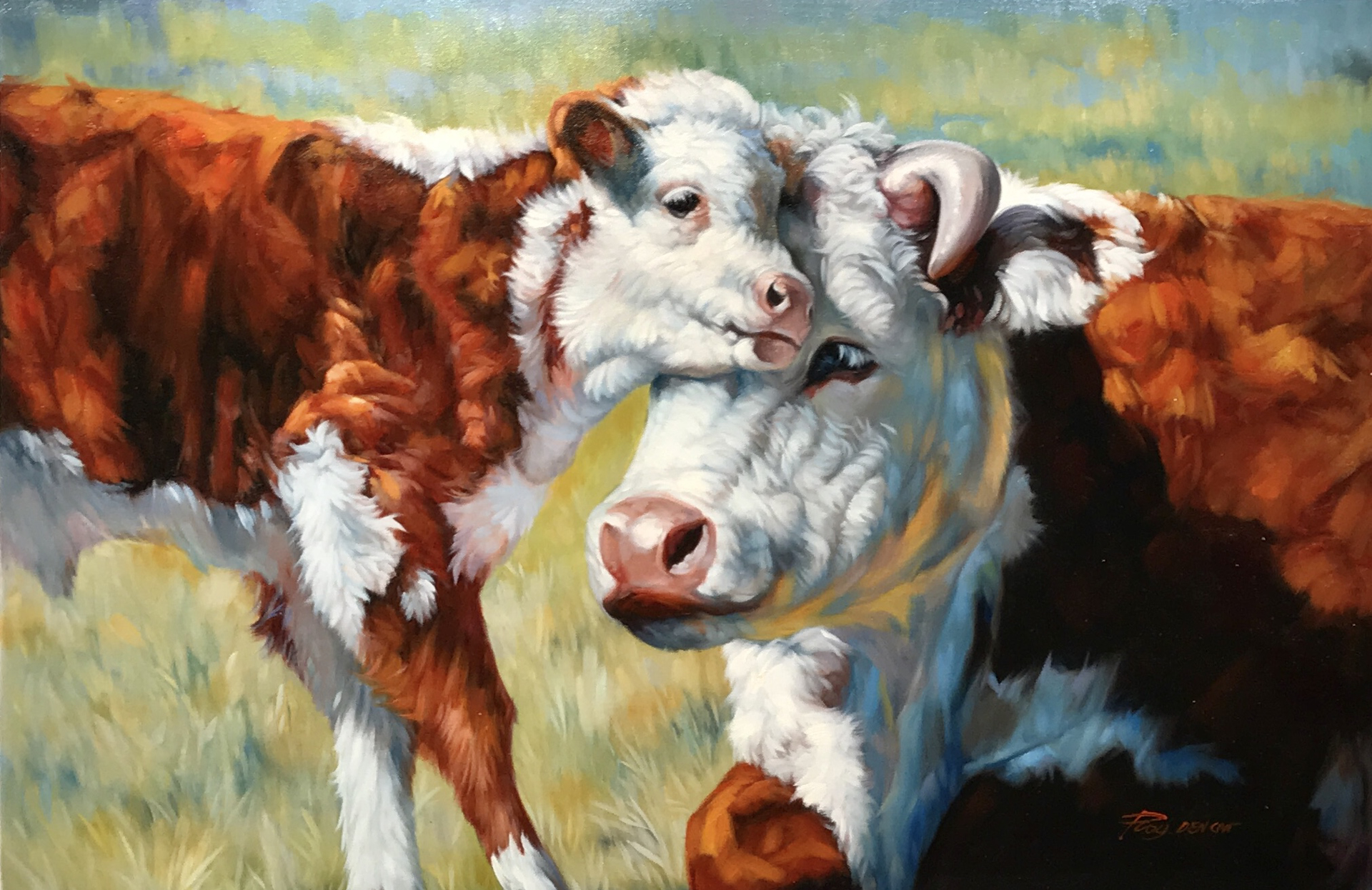 MOTHER AND CALF by ROY DENCAN