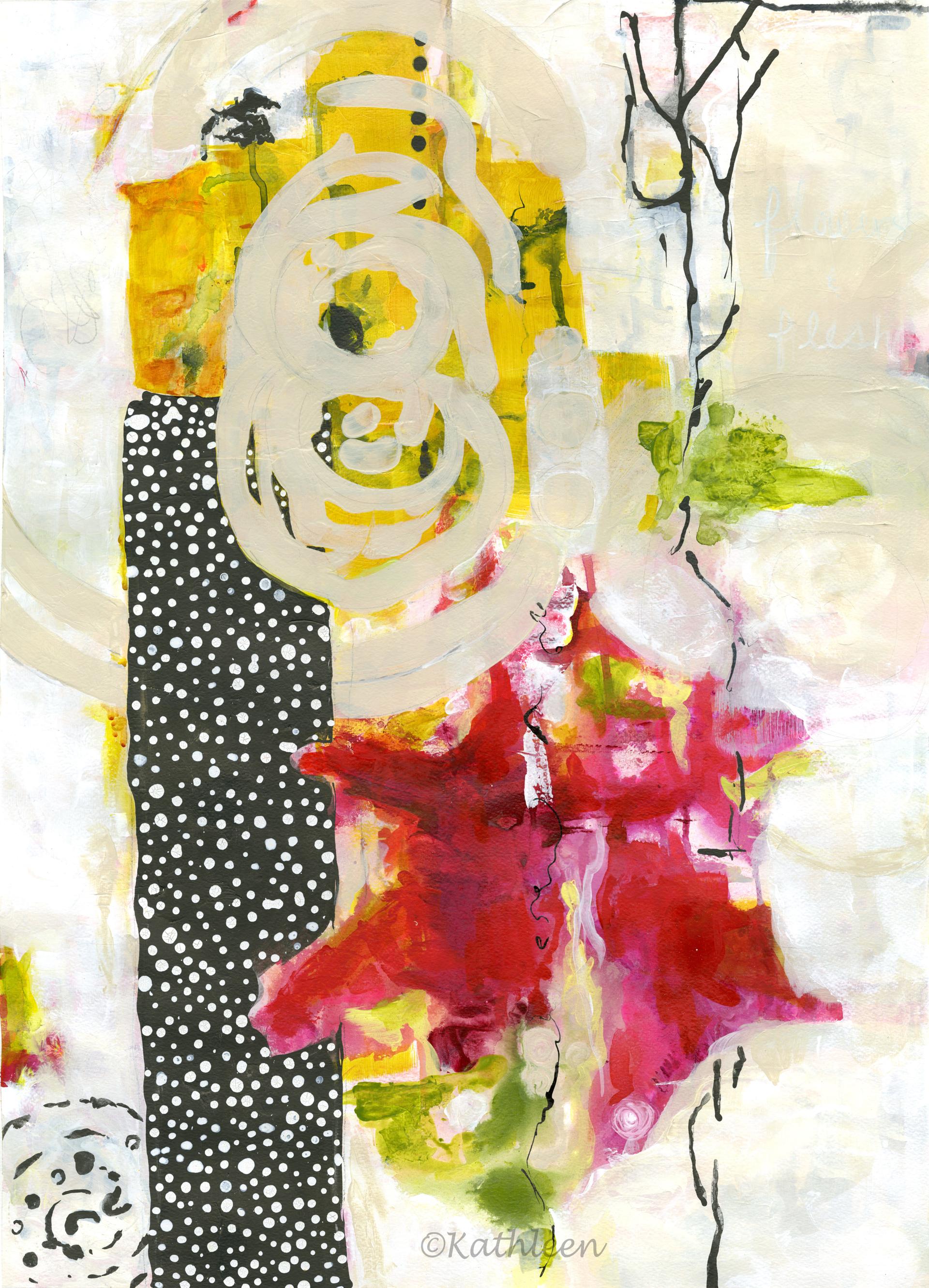 Mediations In The Garden by Kathleen Quinn-Leslie