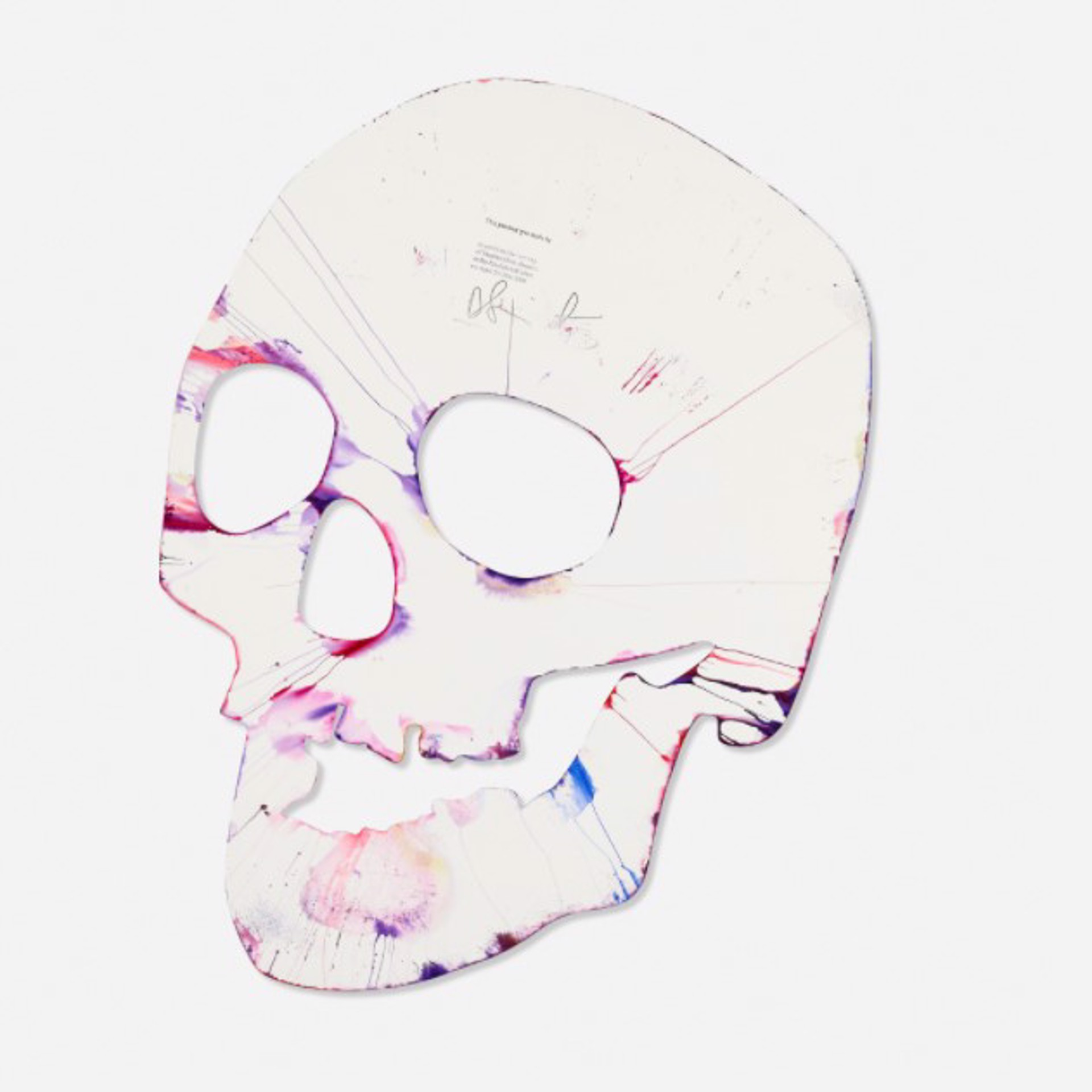 Damien Hirst b.1965 Skull Spin Painting acrylic on paper