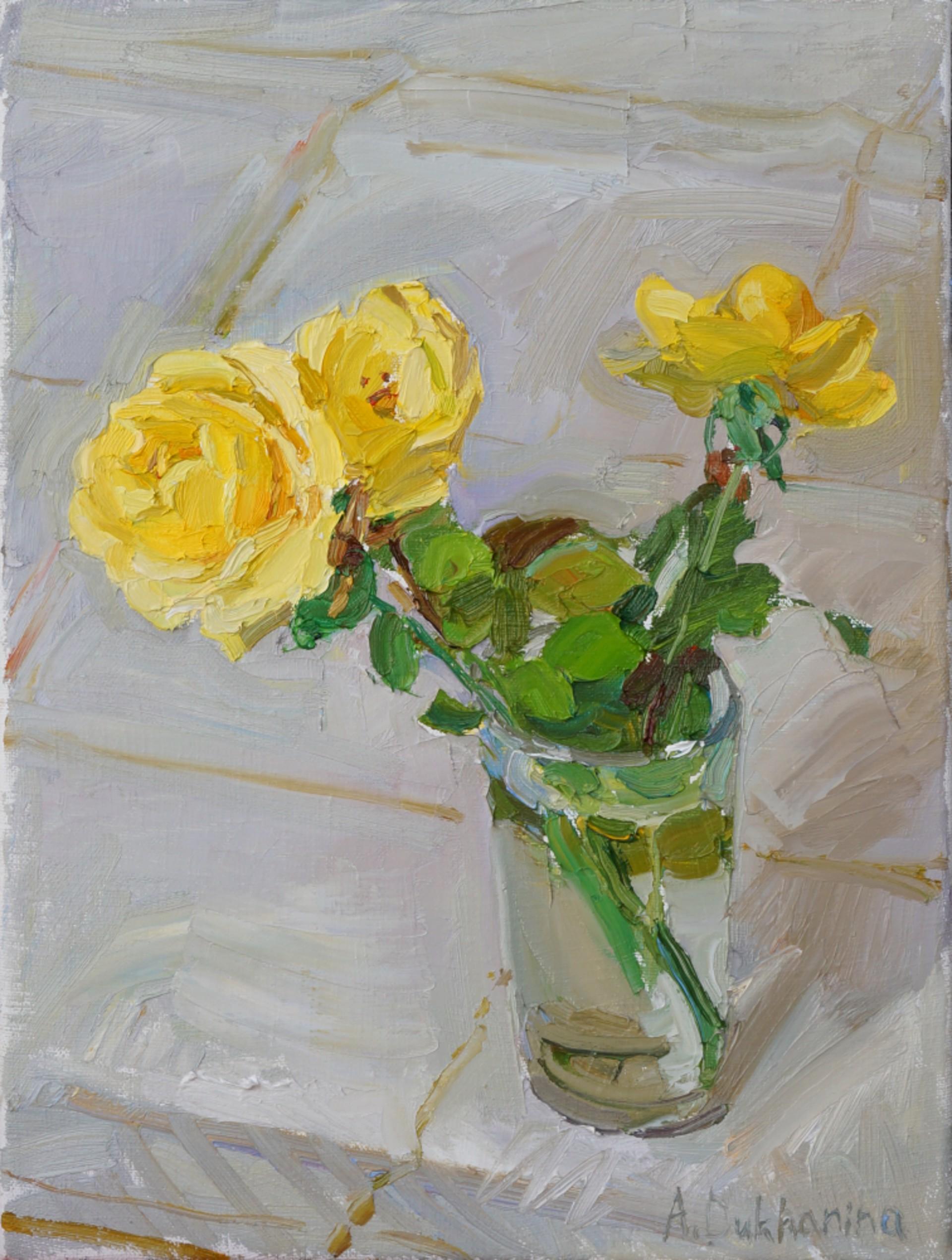 Yellow Roses by Anastasia Dukhanina