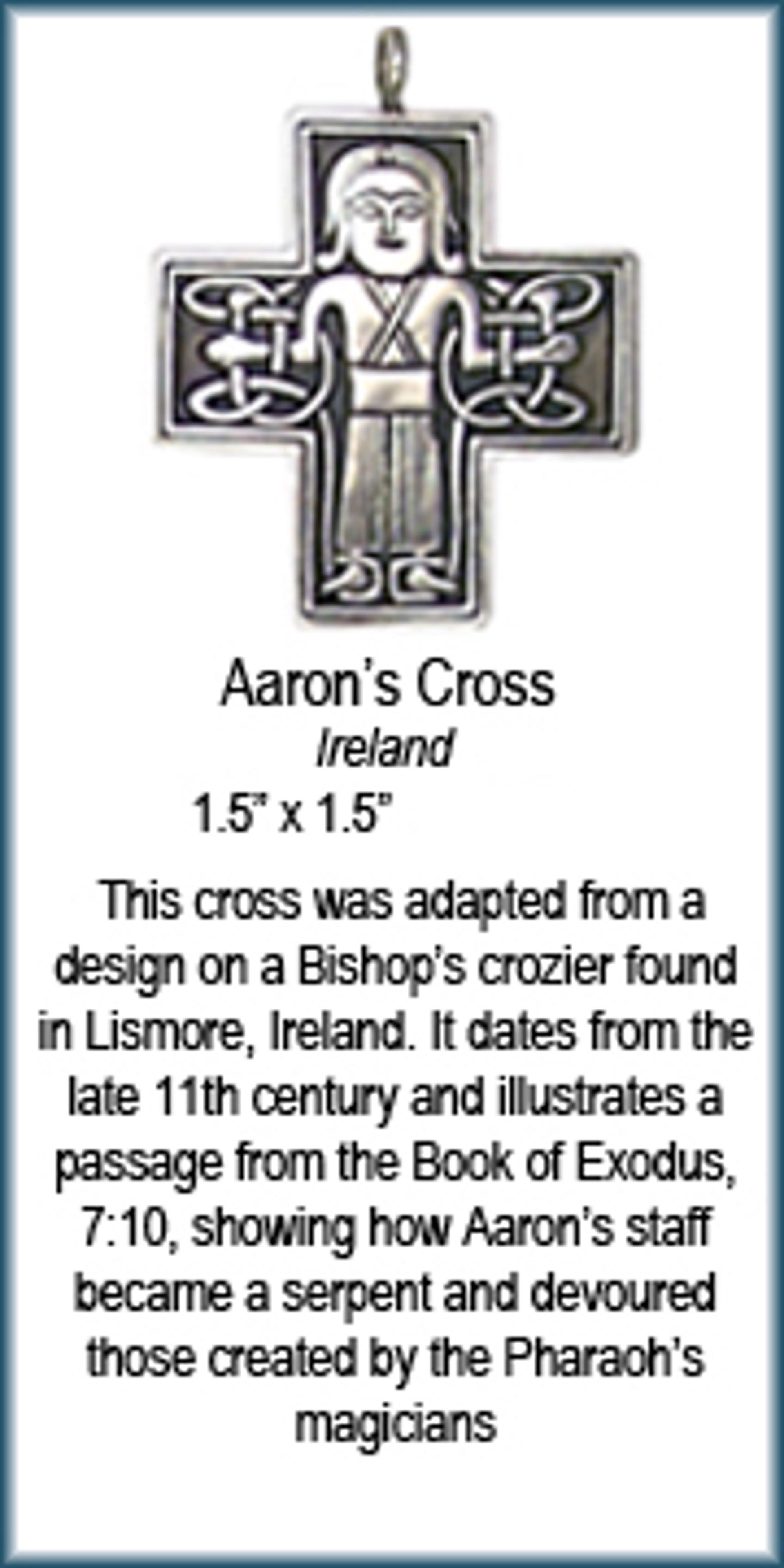 Pendant - Bronze Aaron's Cross 8913 by Deanne McKeown