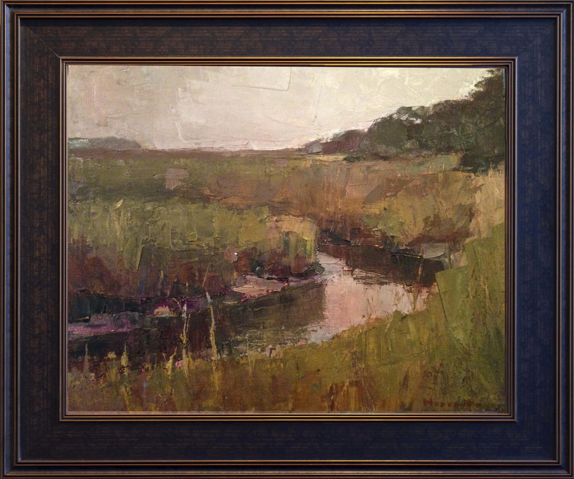 Marsh in Ochre Tones by Larry Horowitz
