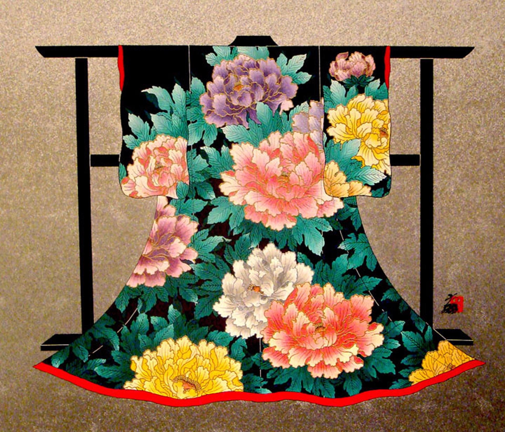Multiple Peonies by Hisashi Otsuka