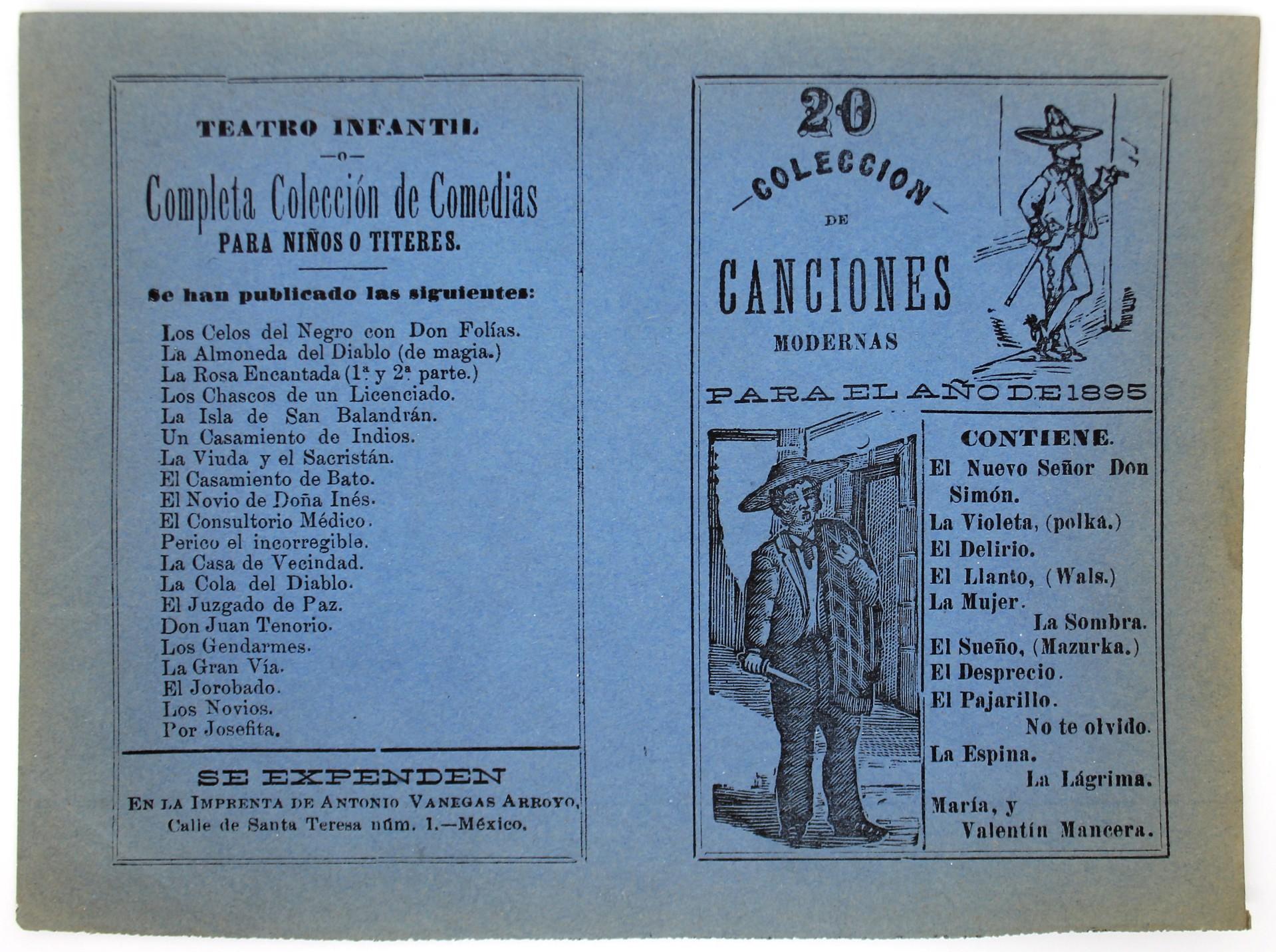 Coleccion de Canciones Modernas, No. 20 by José Guadalupe Posada (1852 - 1913)