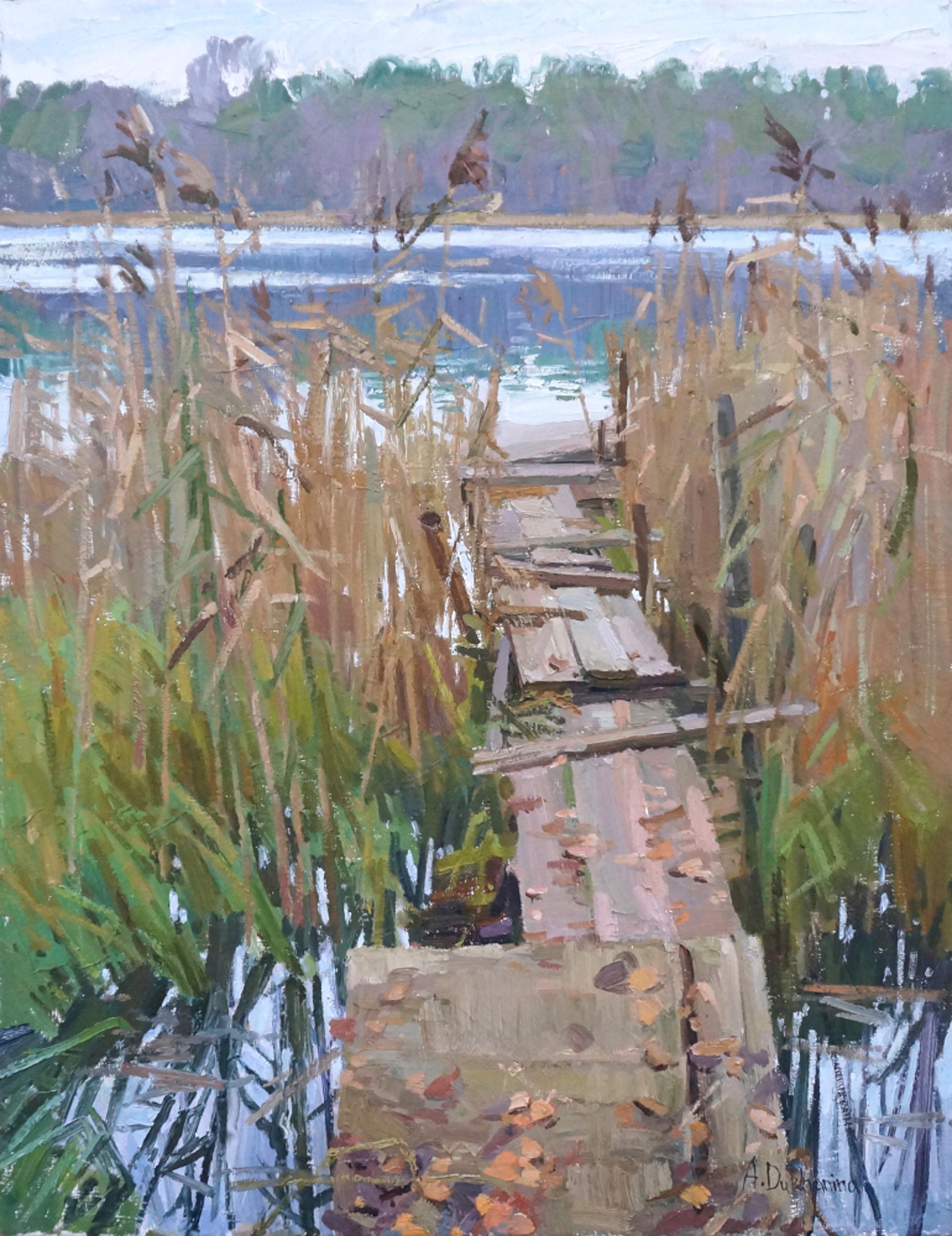 Autumn on the Lake by Anastasia Dukhanina