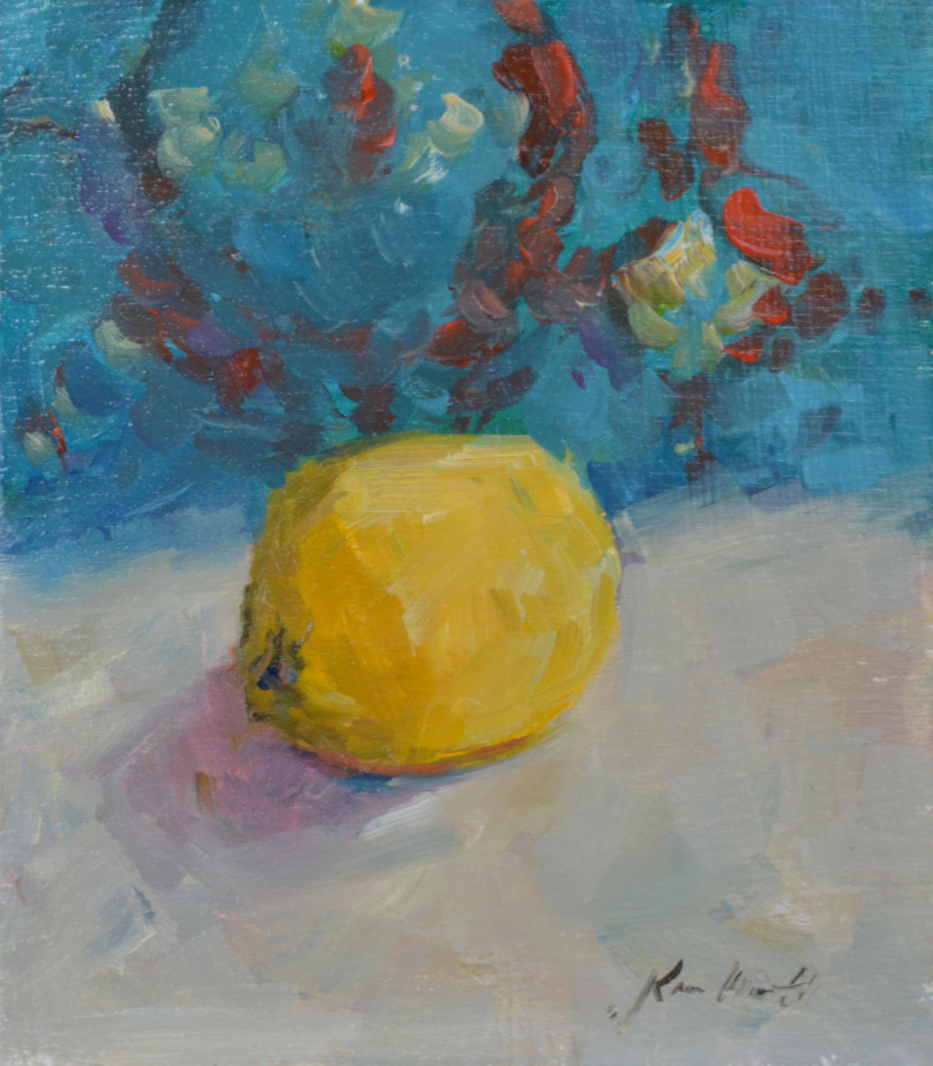 Yellow and Aqua by Karen Hewitt Hagan