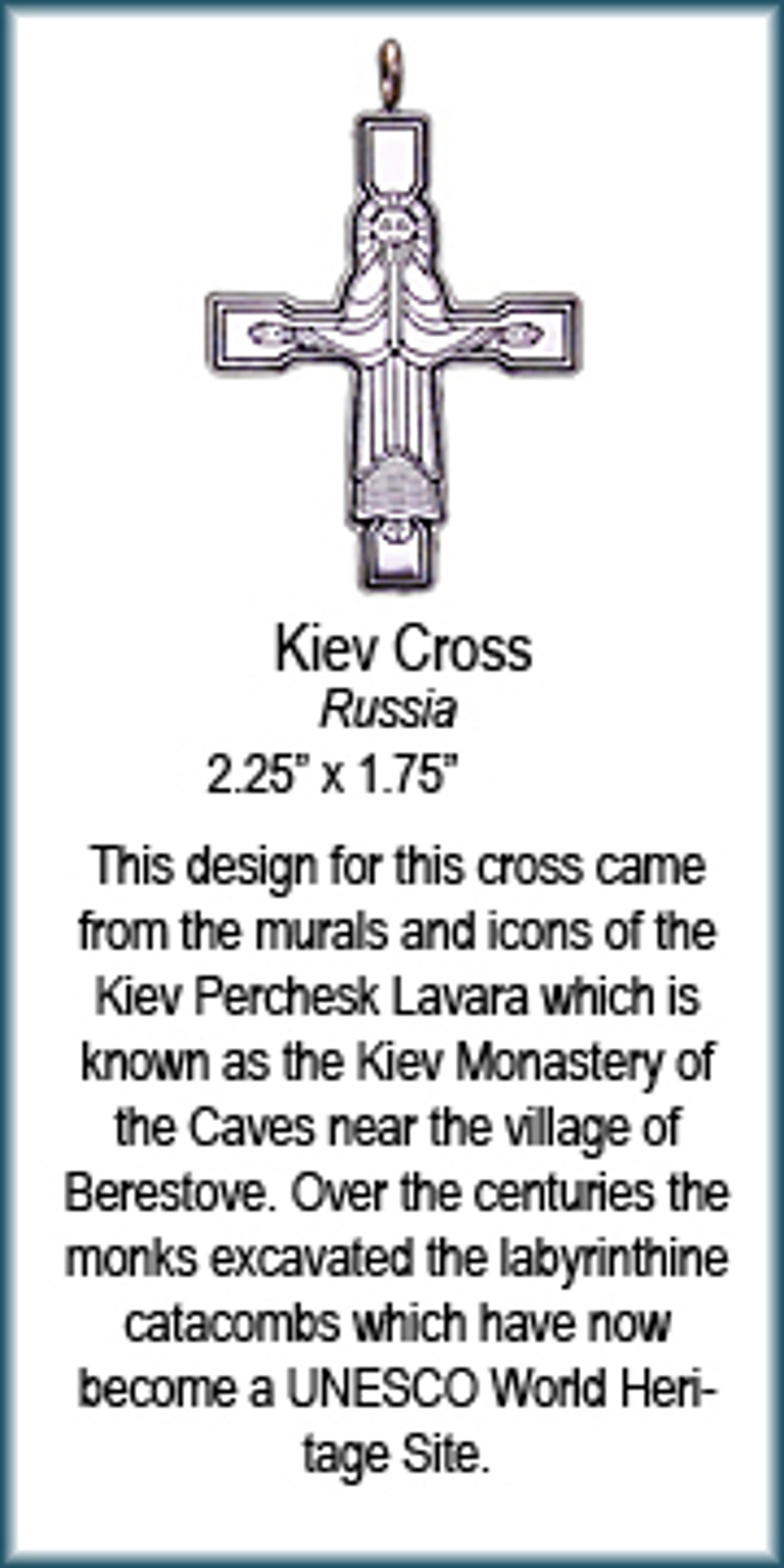 Pendant - Silver Kiev Cross 9324 by Deanne McKeown