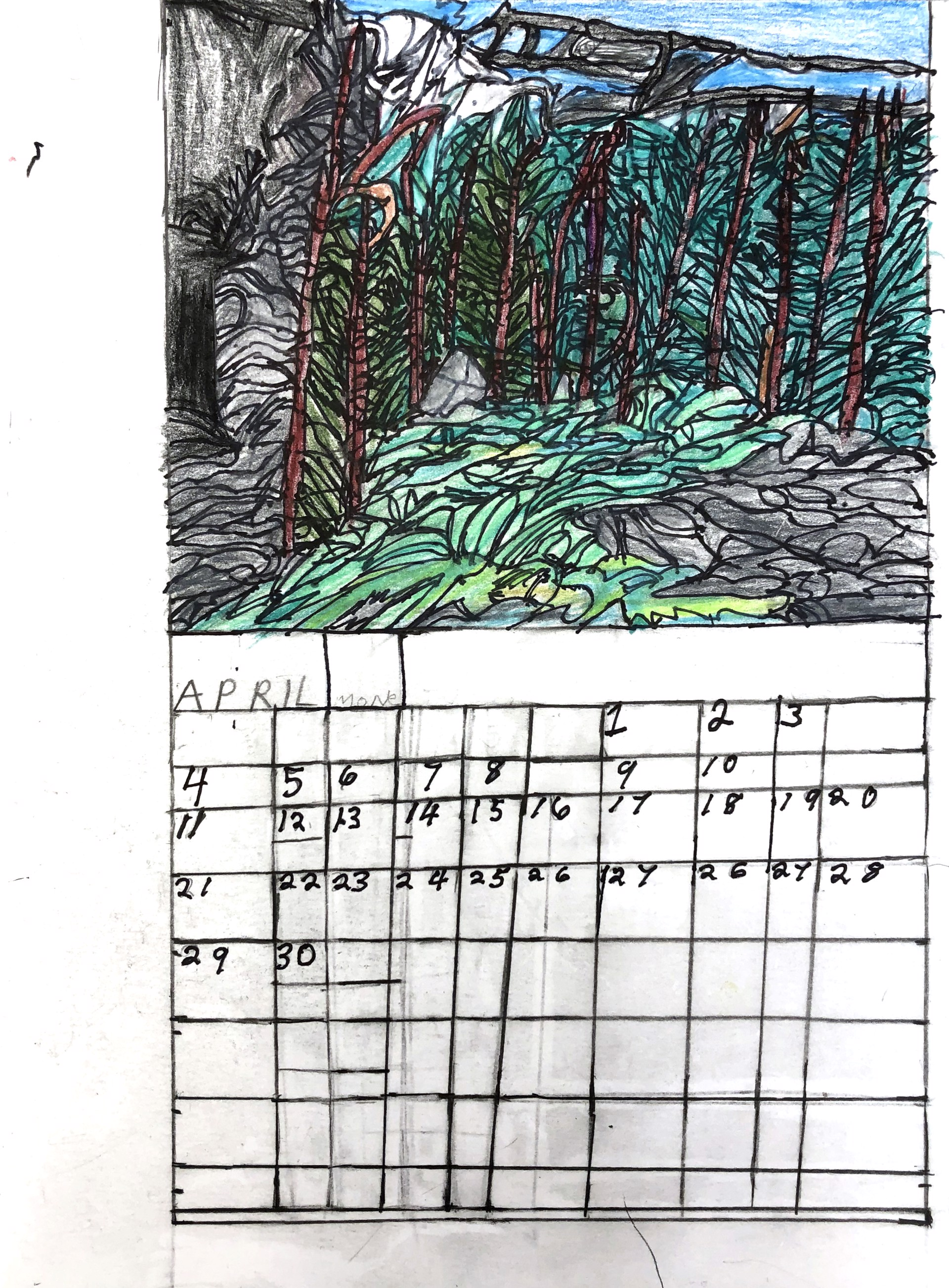 Calendar by Raymond Lewis