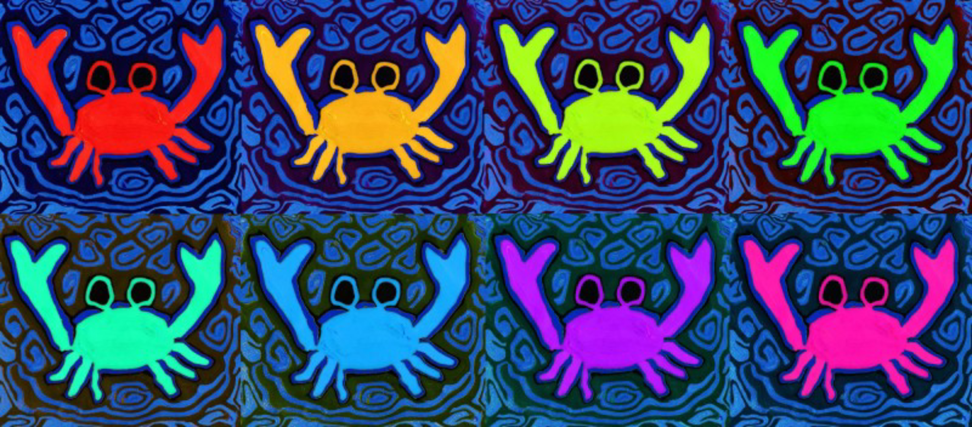 Eight Crabs by Samantha Long - Prints