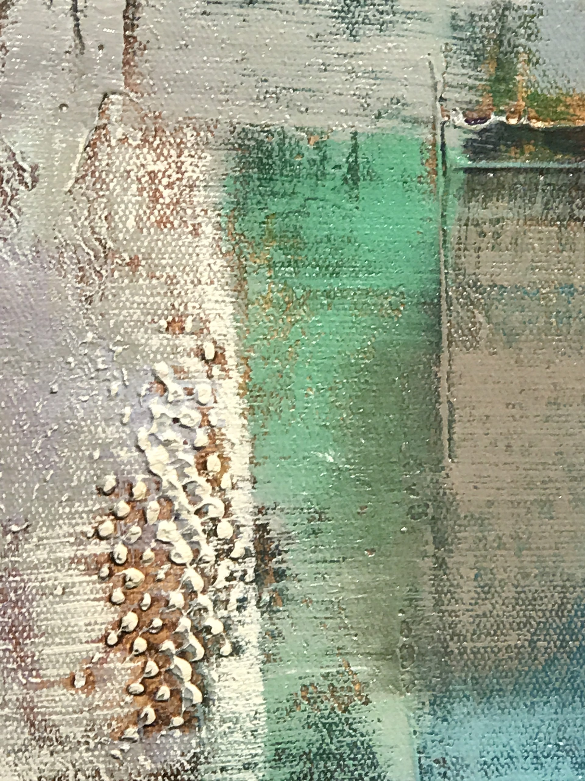 GEOMETRIC ABSTRACT WITH GREEN by K. SOPINO