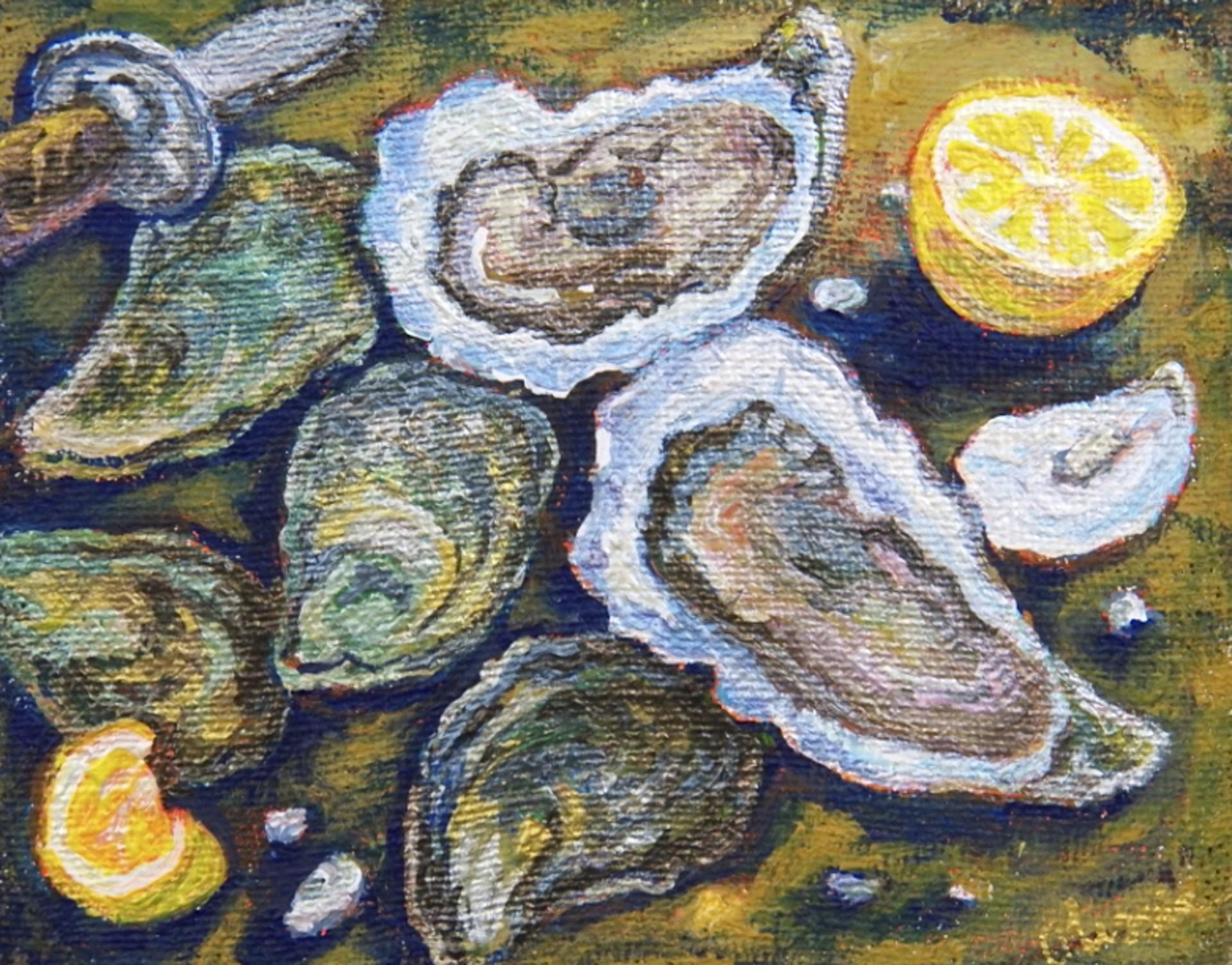 Still Life Oysters by Olessia Maximenko