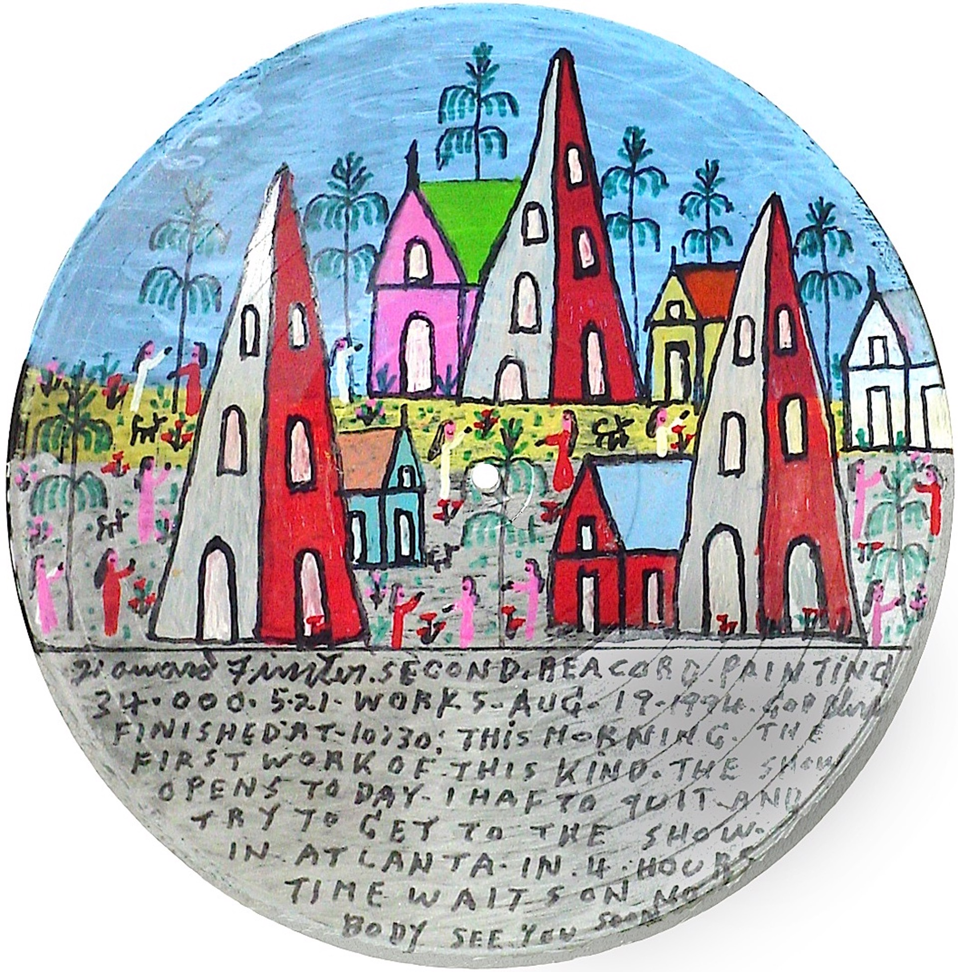 Second Record Painting by Howard Finster