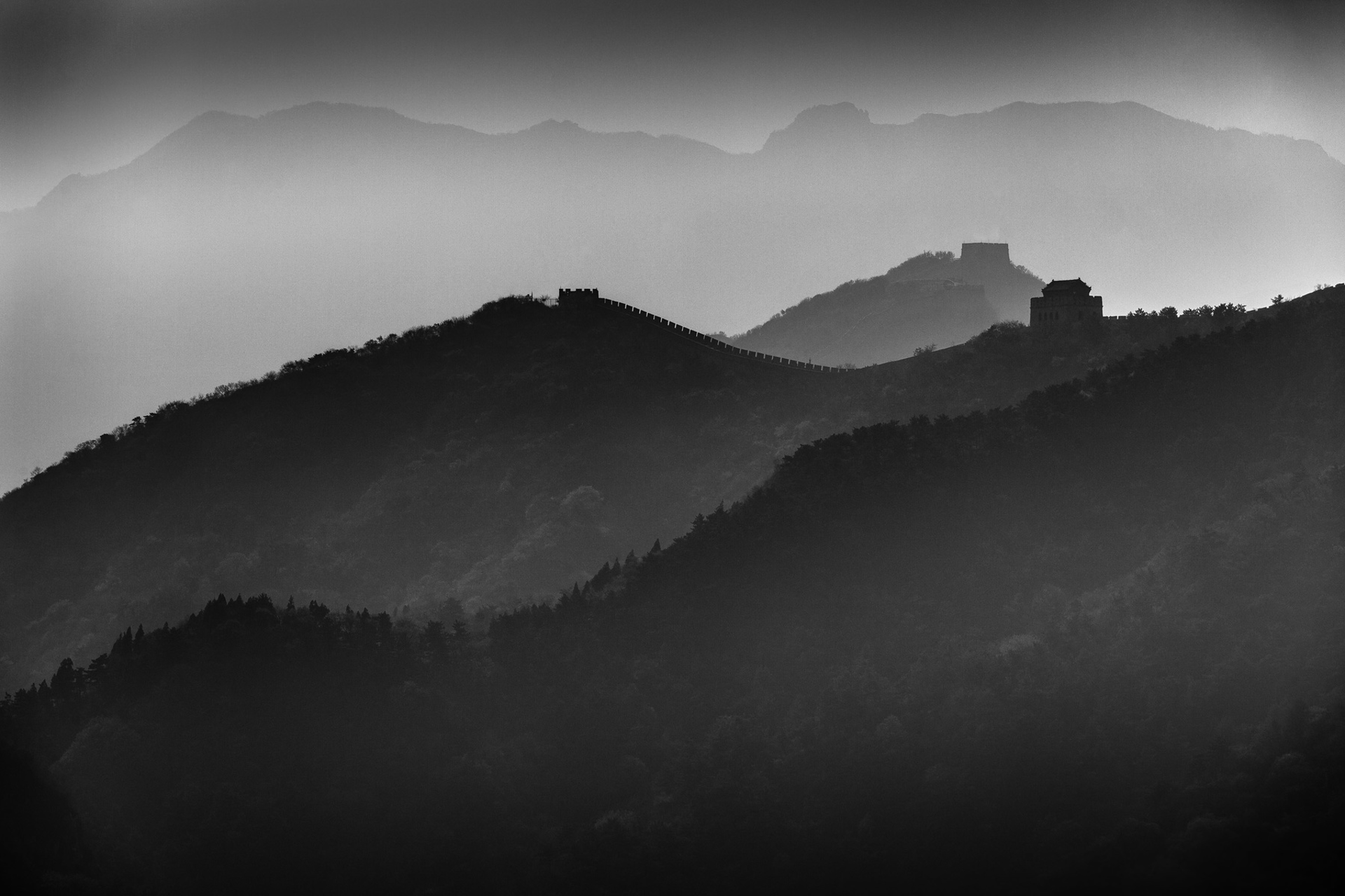 great wall fog by Alex Nyerges