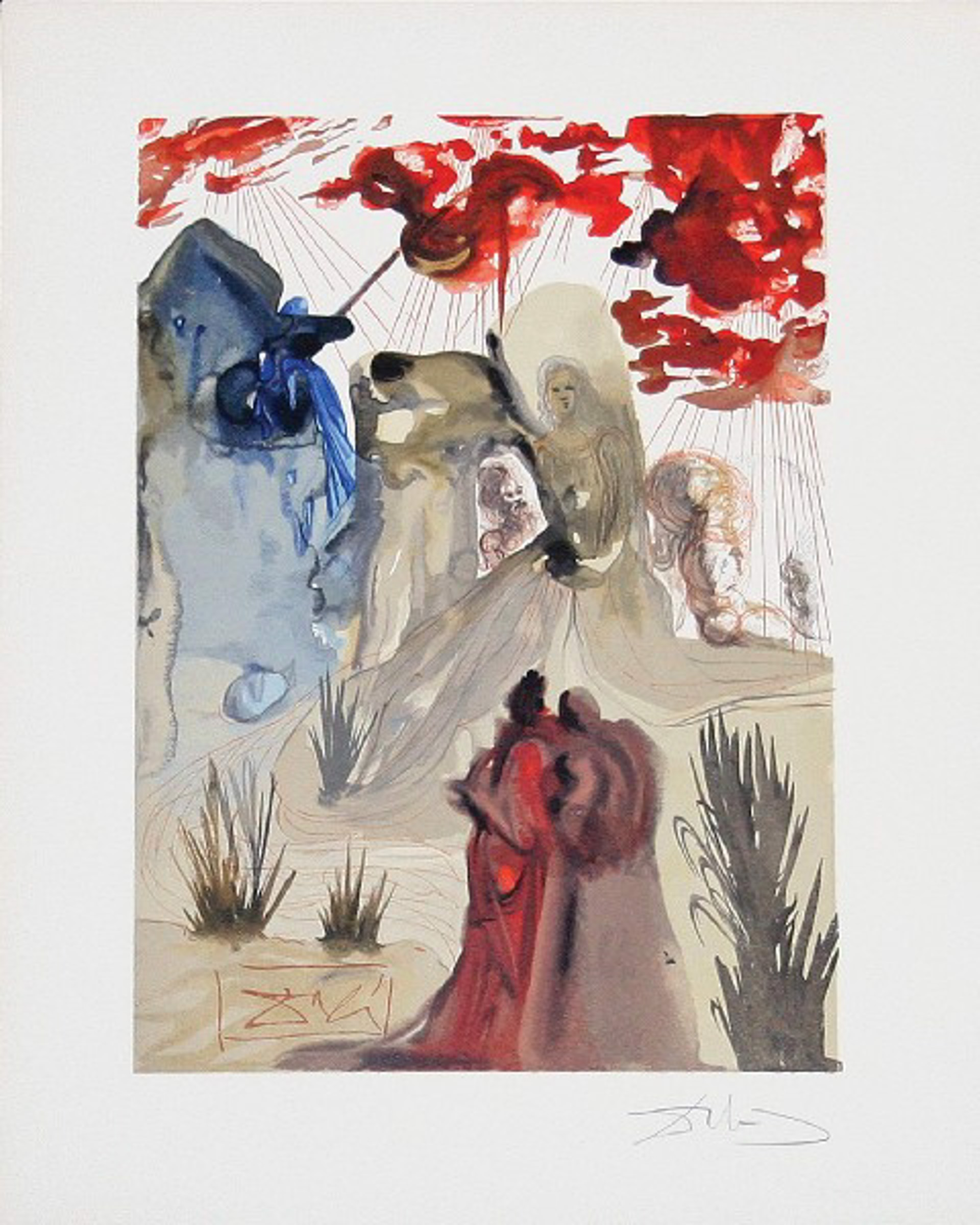 Purgatory Canto 28: The Divine Forest from The Divine Comedy by Salvador Dali (1904 - 1989)