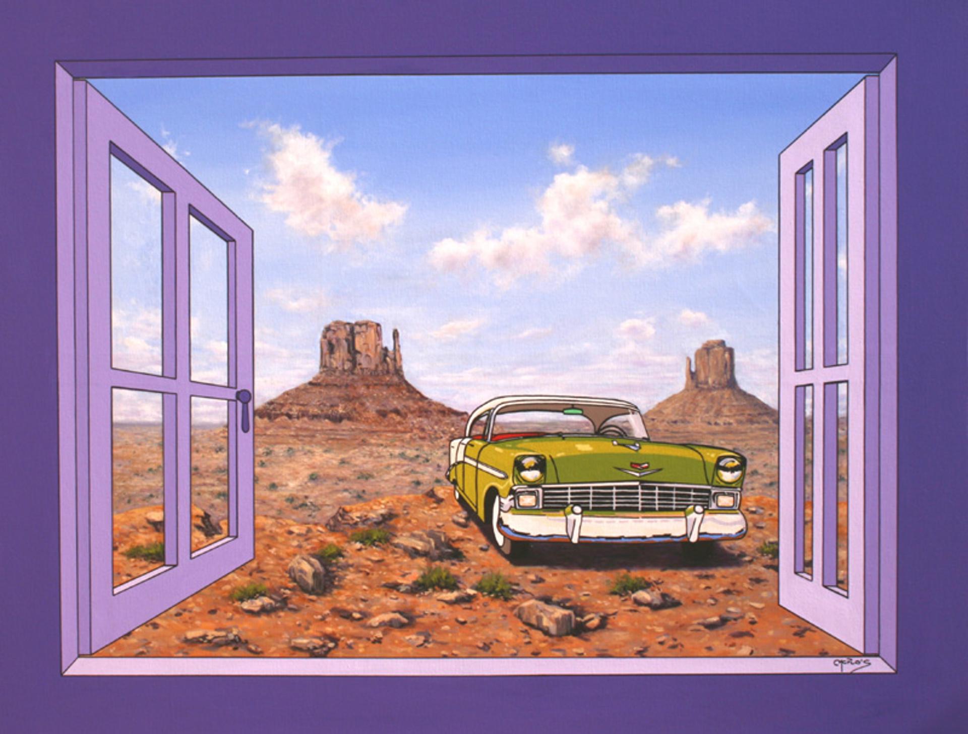 MG085 Solitary Cadillac -Chevy - Chevy Solitario by Mario Garcia Miro