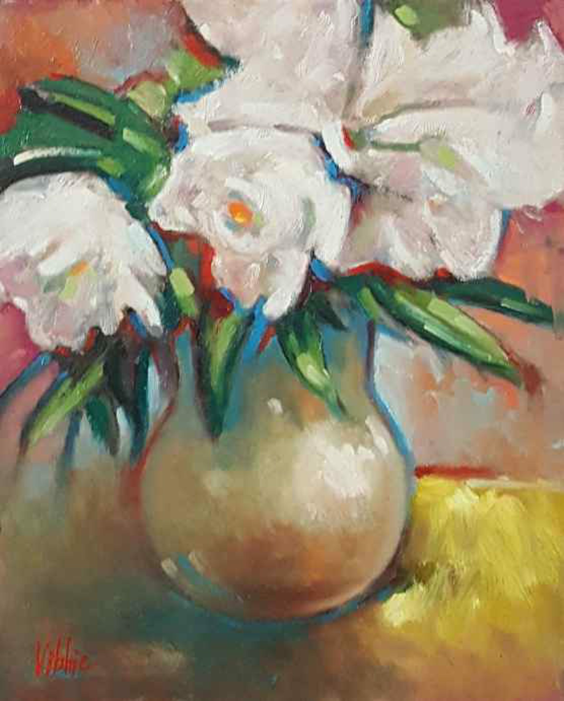 White Peonies by Wayne Epperly