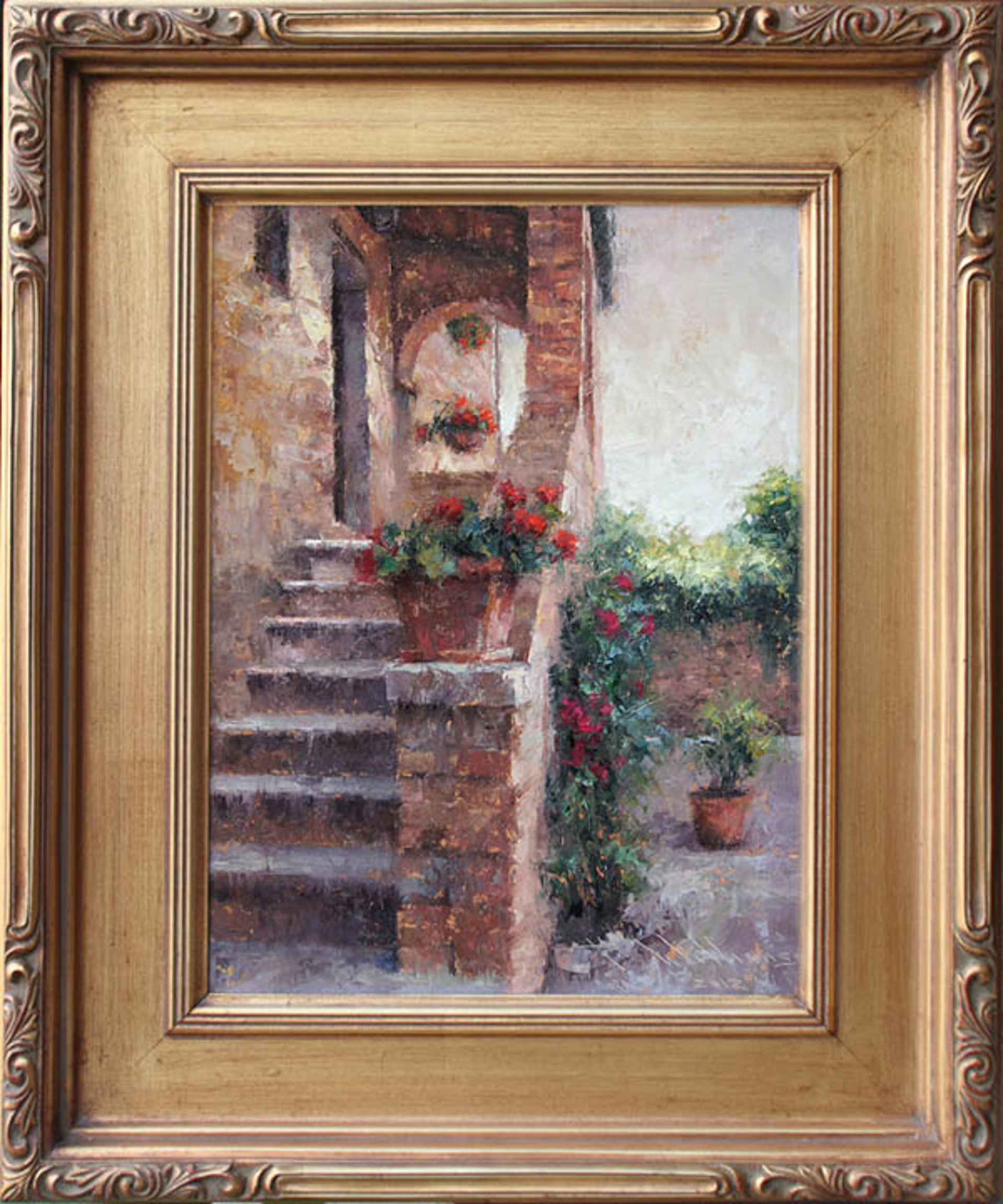 Stairway Home, Pienza by Todd A. Williams