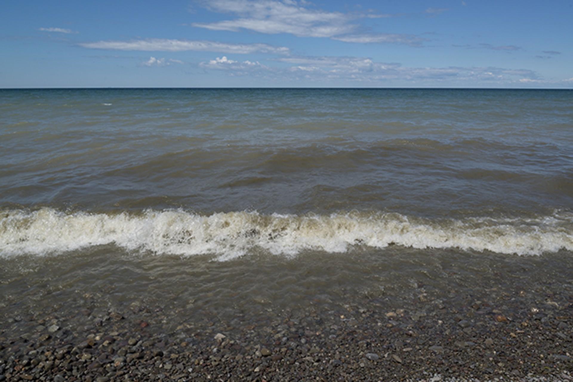 Lake Ontario Beach III by Frank Sherwood White