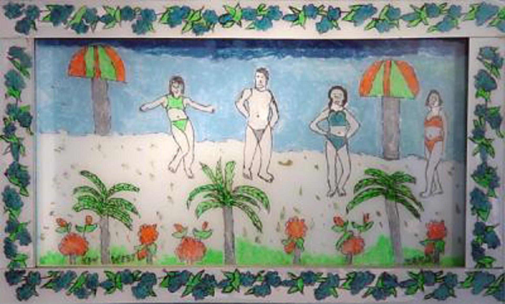 At the Beach by Makiki aka Geraldo Alfonso