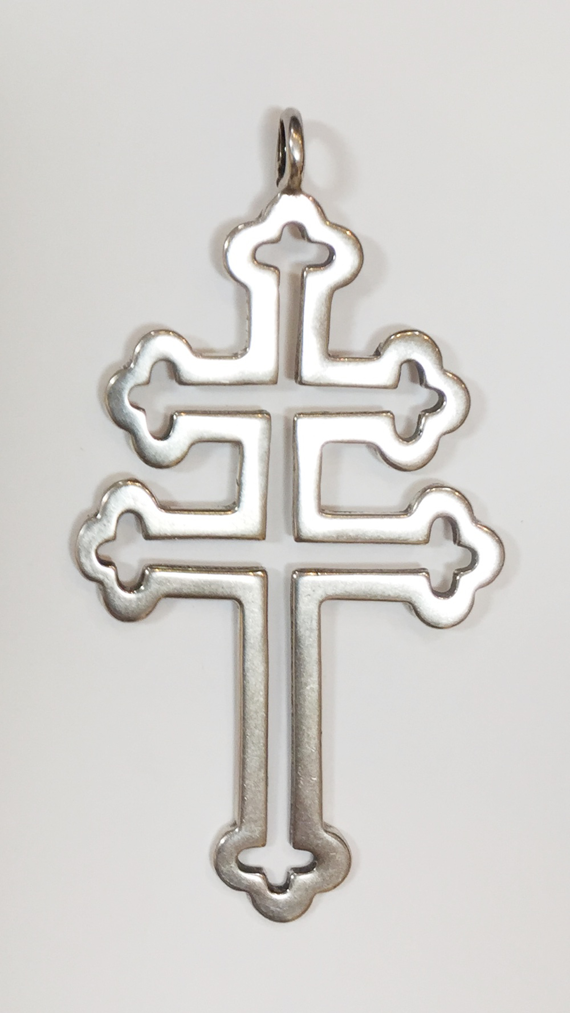 Pendant - Silver Cross of Lorraine 9231 by Deanne McKeown