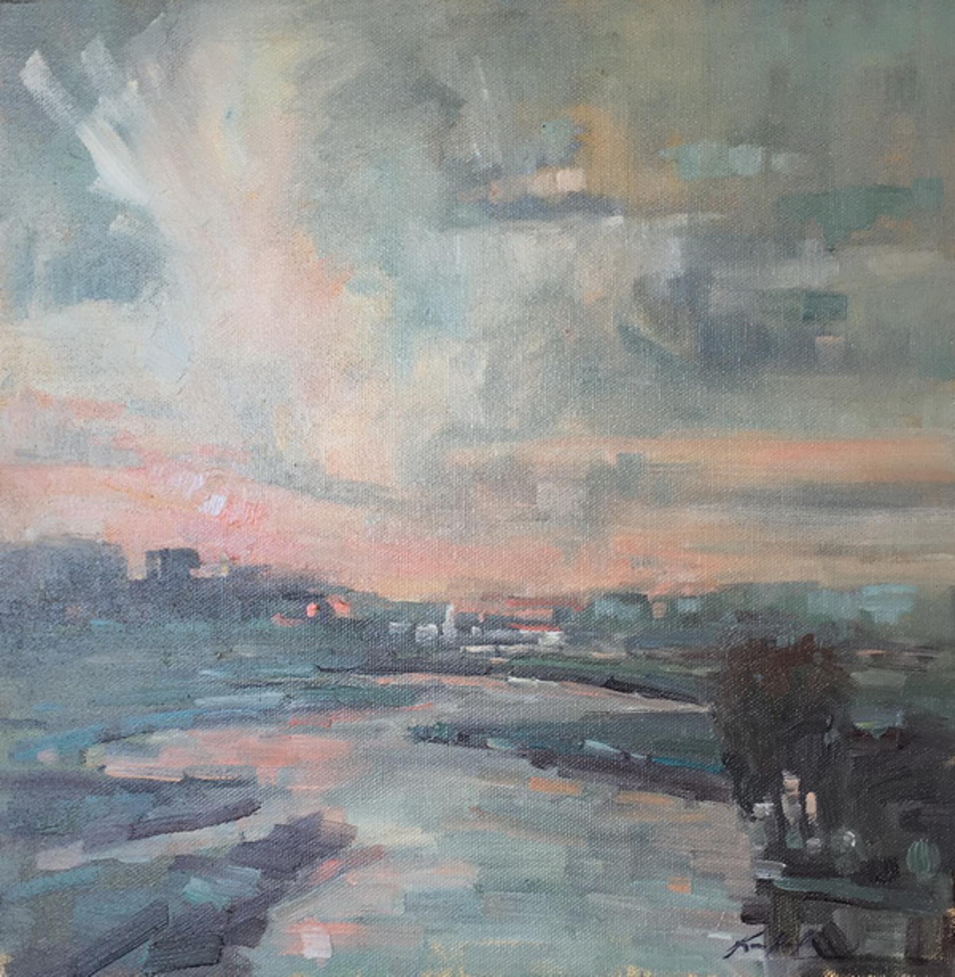 Sunset at Figure 8 Island (NC) by Karen Hewitt Hagan
