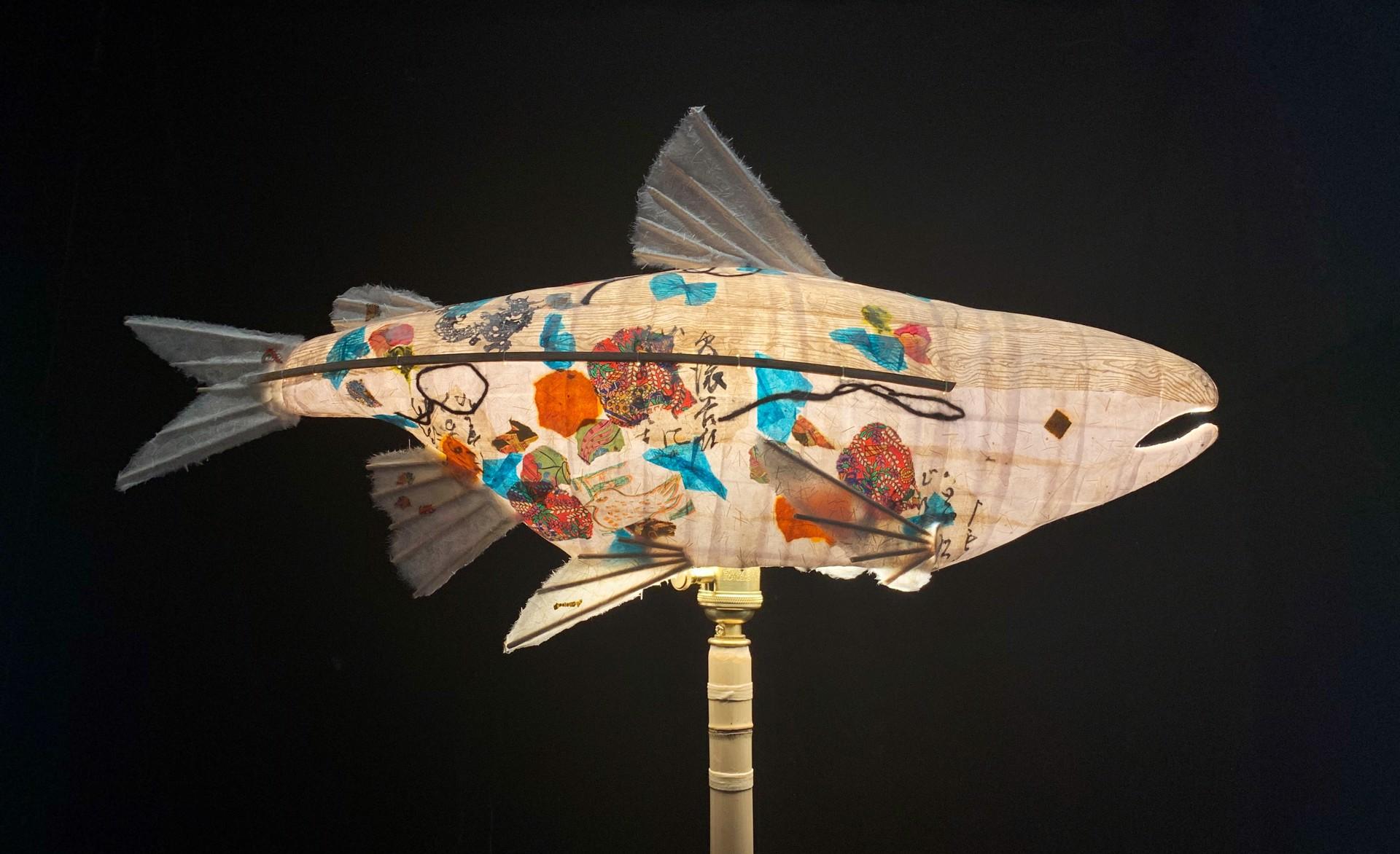 White Wood Salmon by Elaine Hanowell