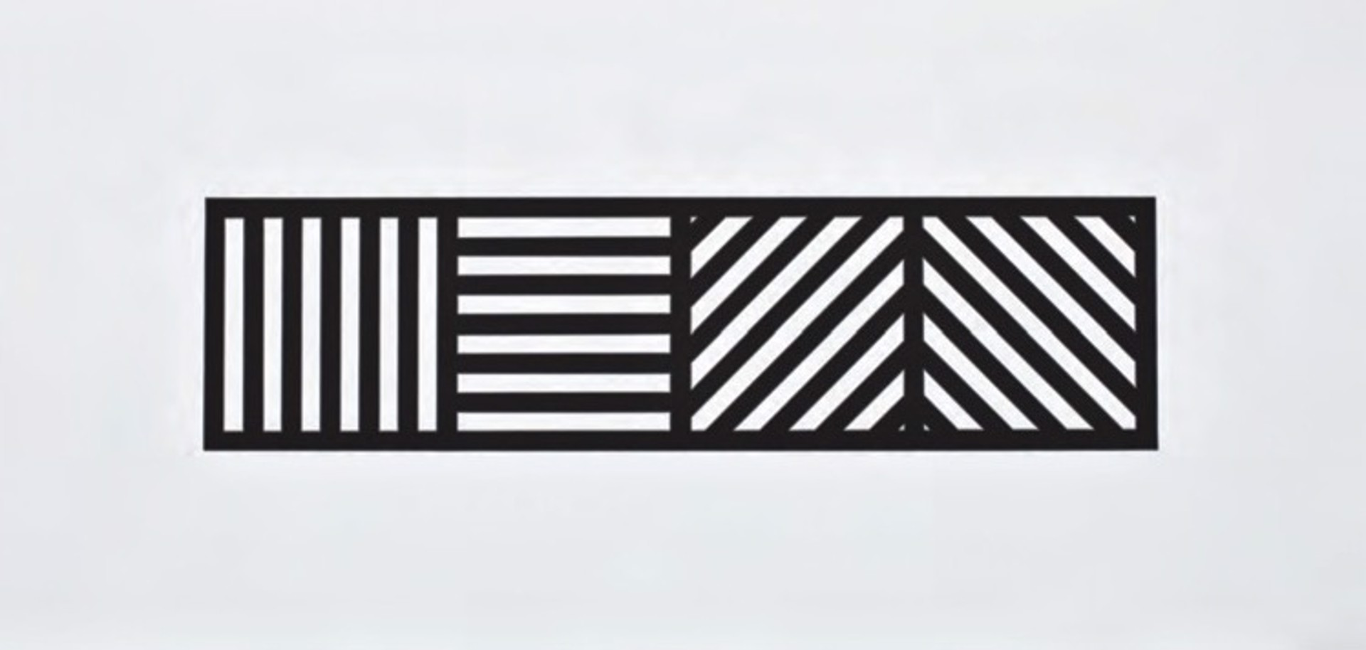 Lines in Four Directions, Black/White by Sol LeWitt