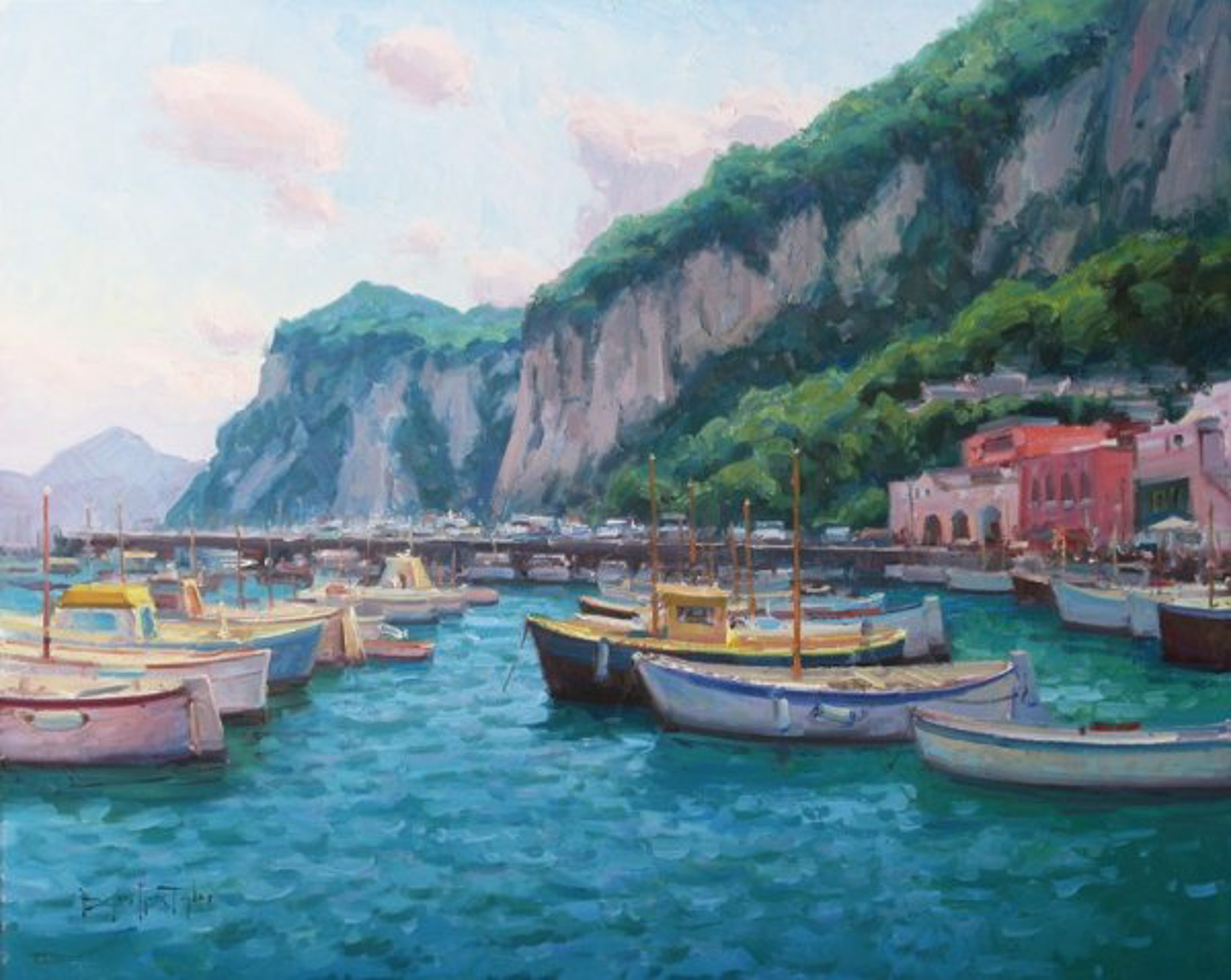 Taylor: Capri Harbor Afternoon by Bryan Mark Taylor