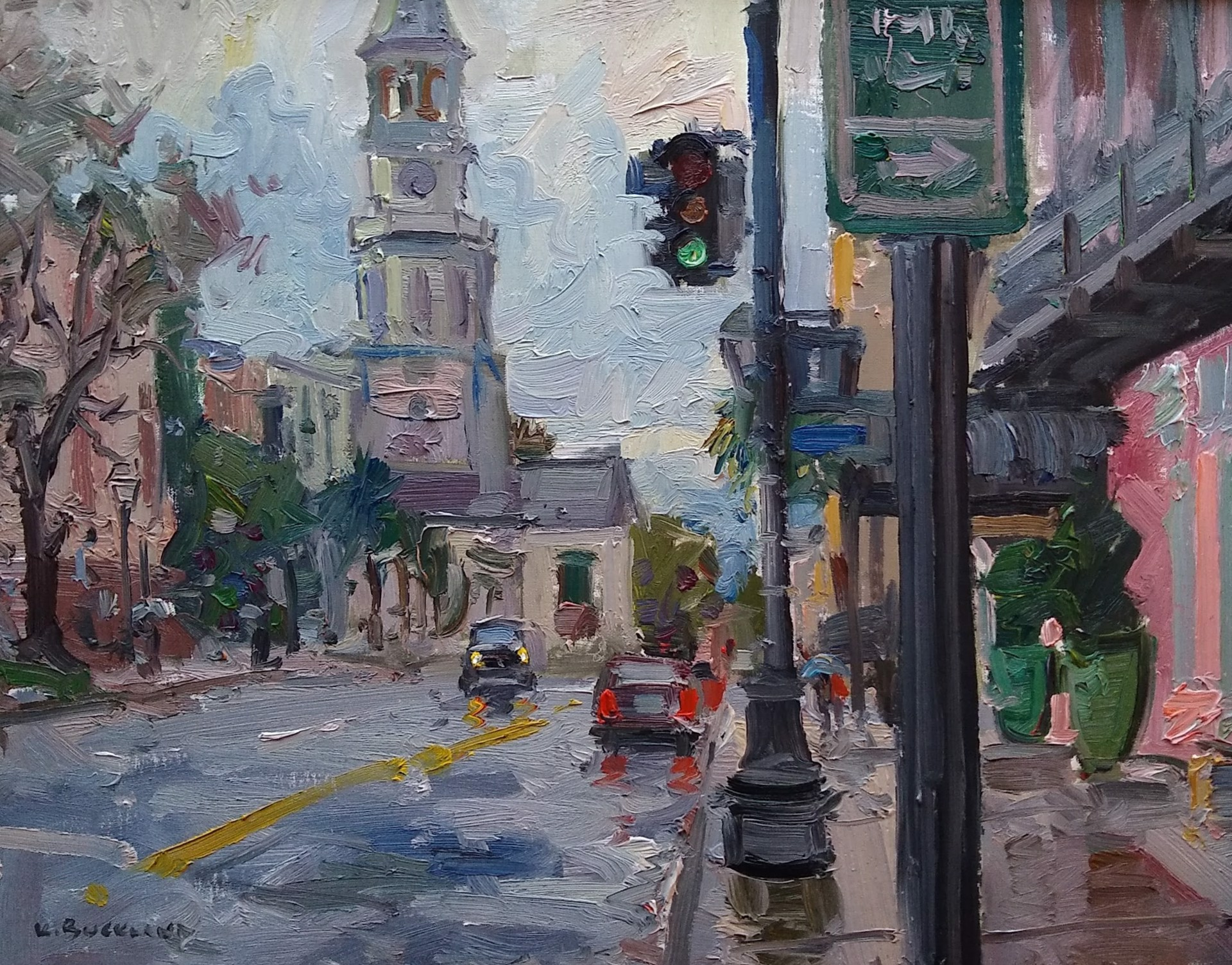 Morning Rain on Meeting Street by Kyle Buckland