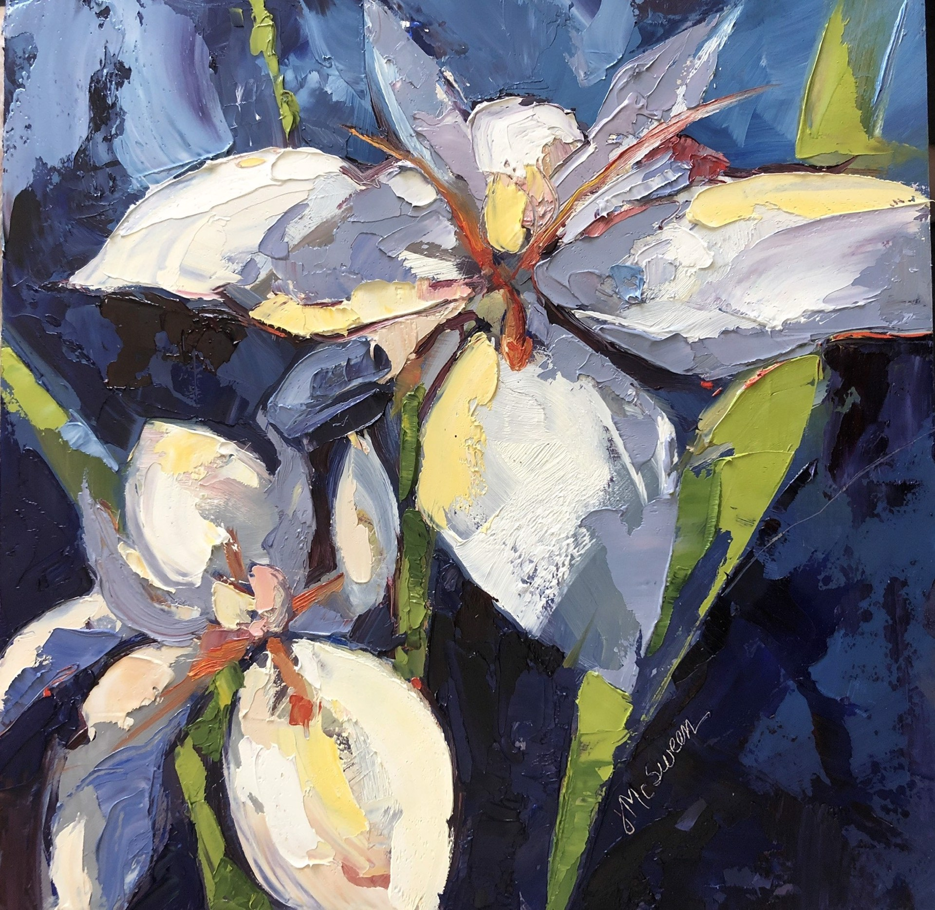Lilies in Blue by Judy McSween