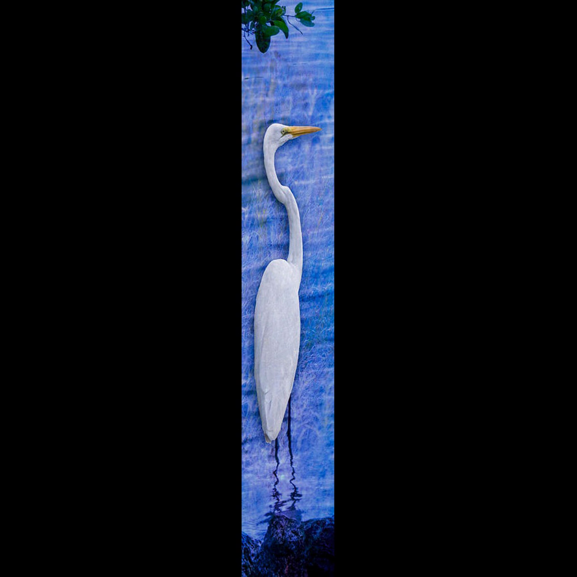 Solo Egret-Blue w/Gold Frame by Bob Coates