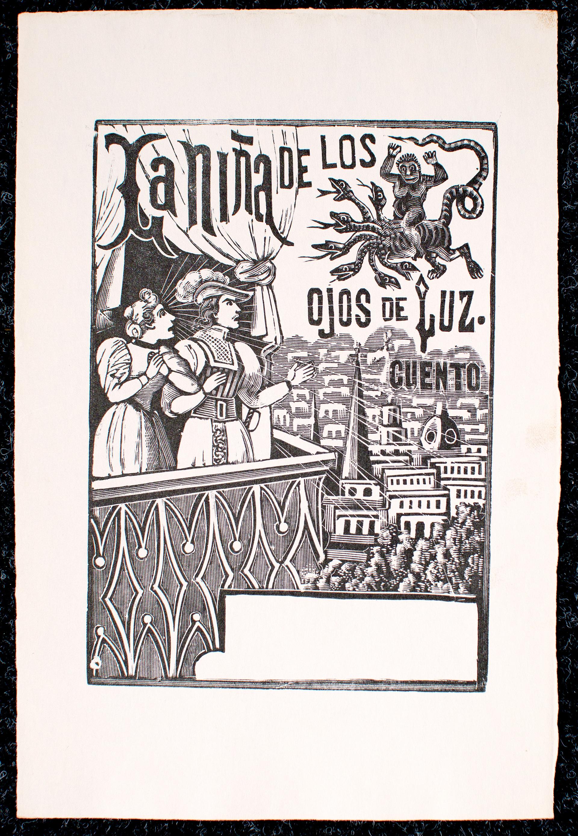 La Nina Del Los Ojos de Luz by José Guadalupe Posada (1852 - 1913)