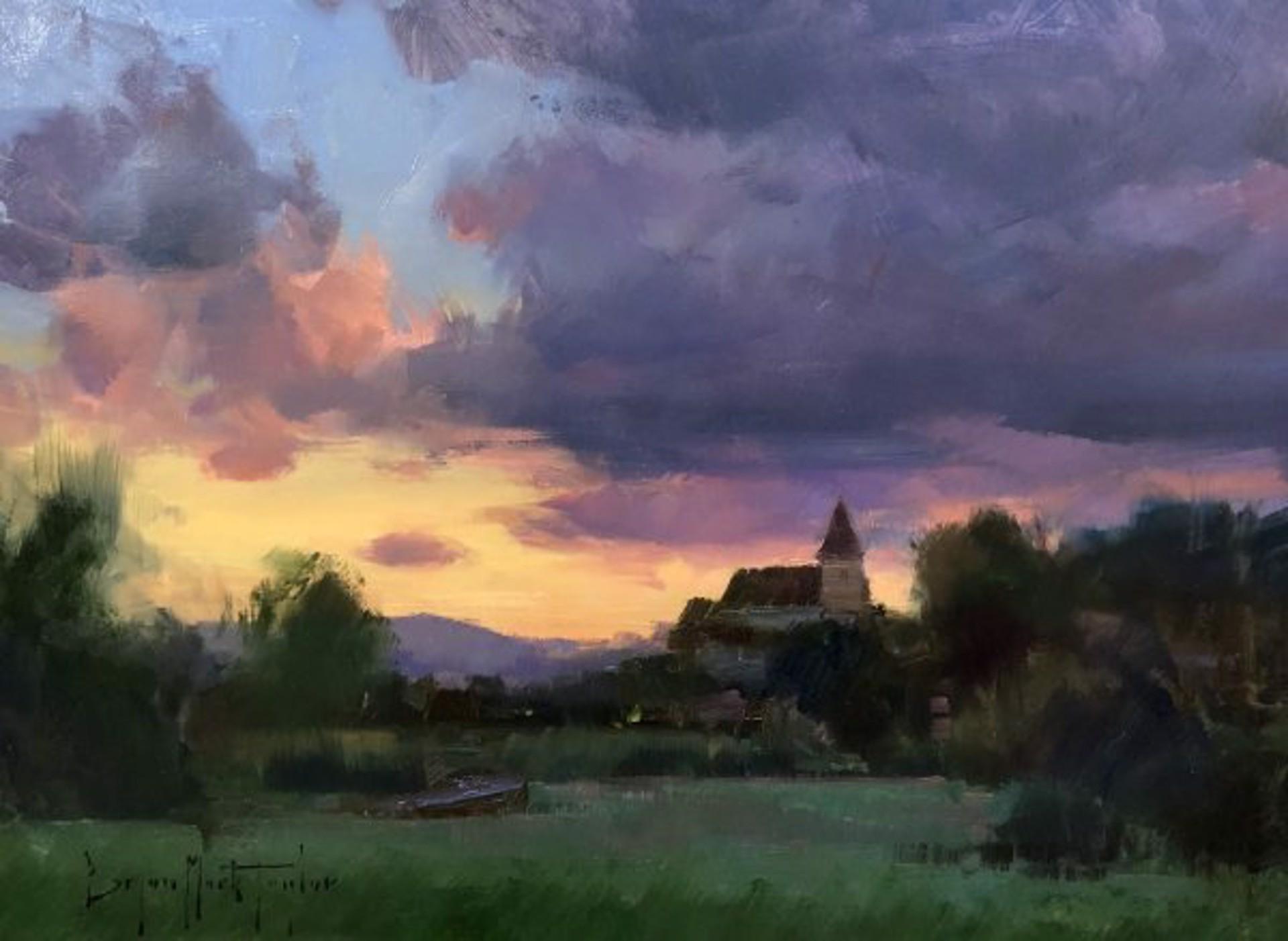 Bryan Mark Taylor: Dordogne Sunset by Bryan Mark Taylor