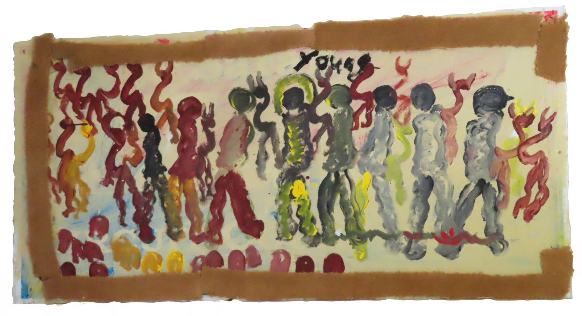 Protesting the Past by Purvis Young (1943 - 2010)