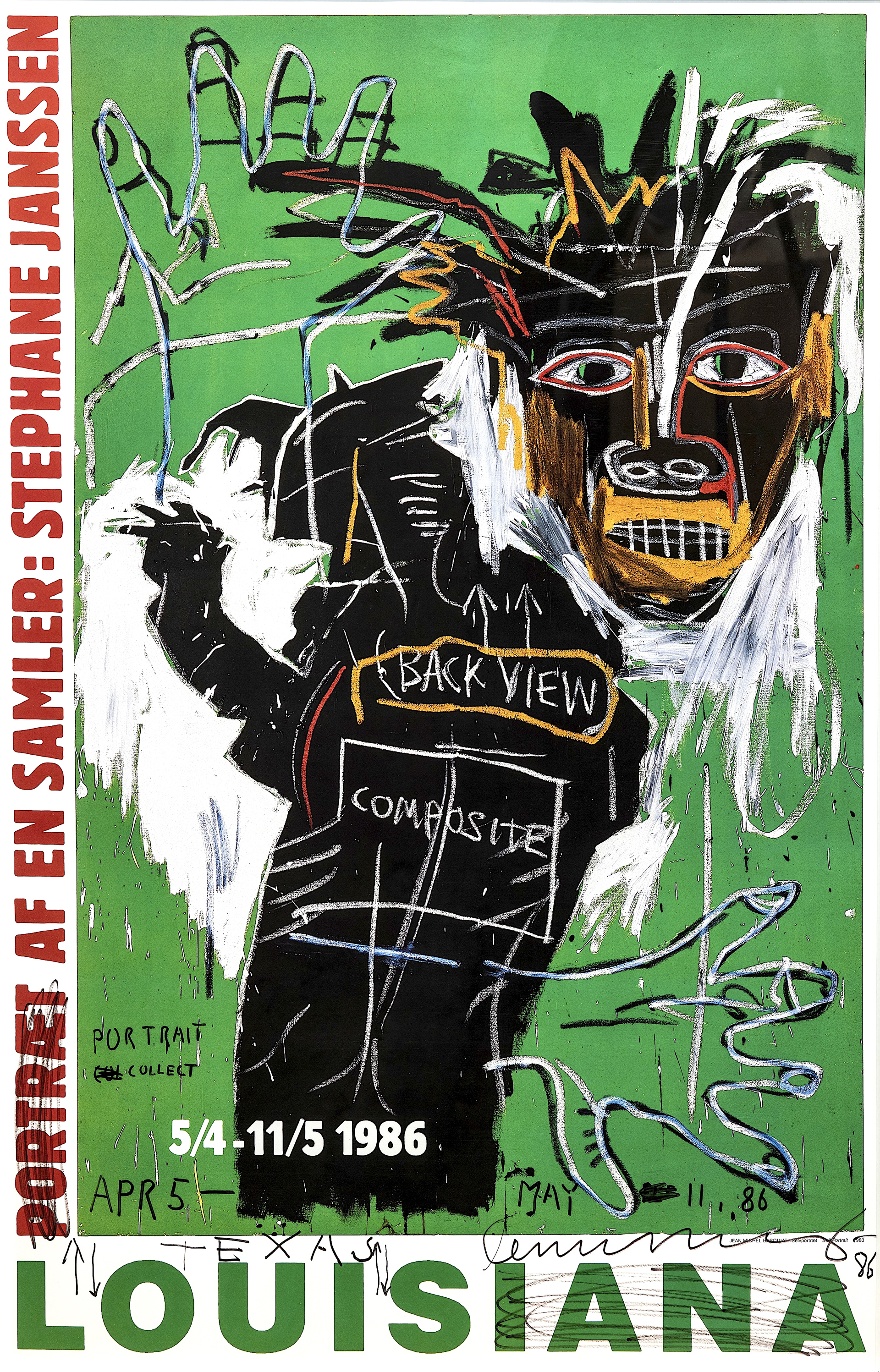 Portrait of a Collector (with original drawing) by Jean-Michel Basquiat