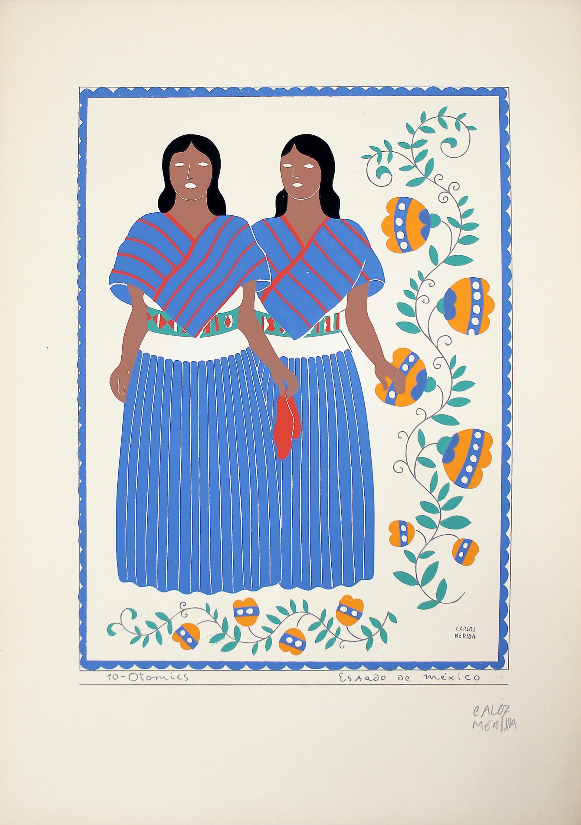 Otomíes, Estado de México by Carlos Mérida (1891 - 1985)