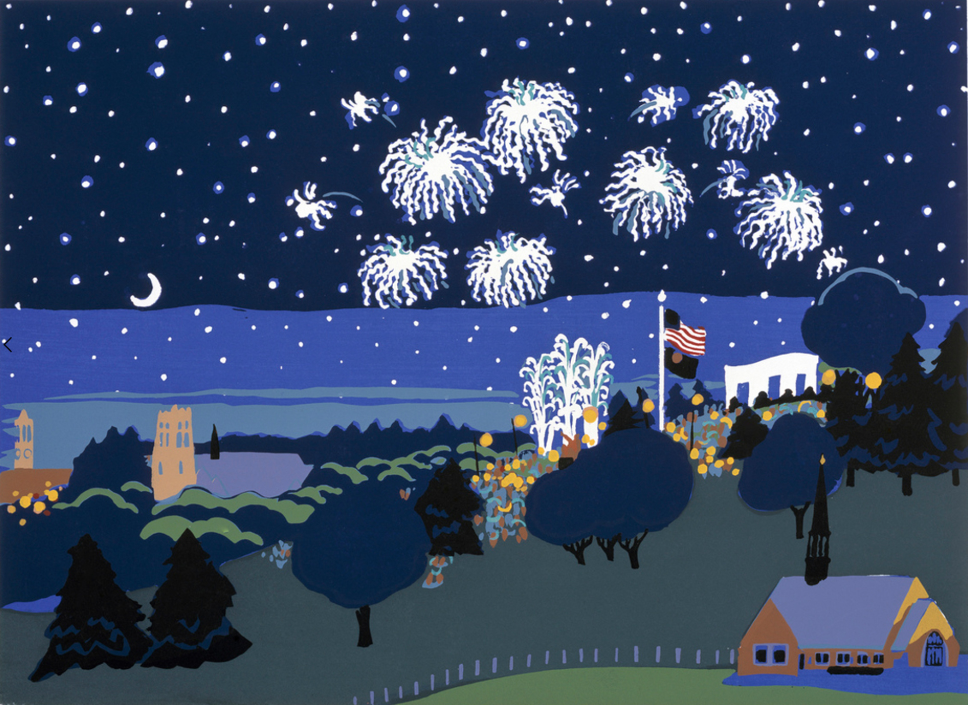 4th of July, Memorial Park by Judith Welk