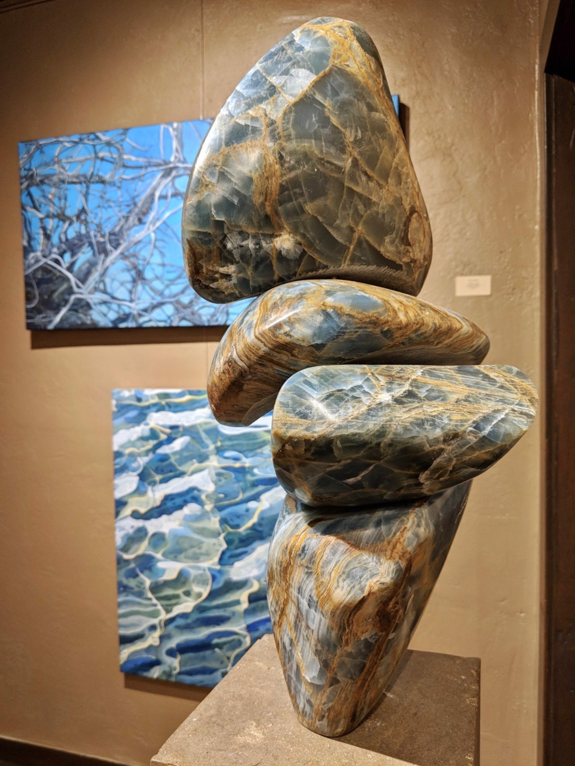 Stacked Blue Figure II by Steven Lustig
