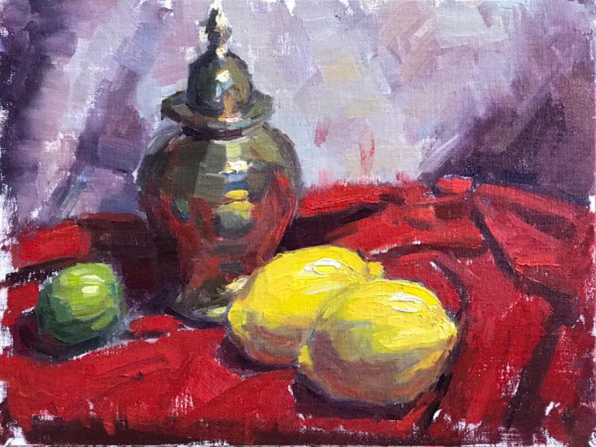 Still Life With Lemons by Brett Weaver
