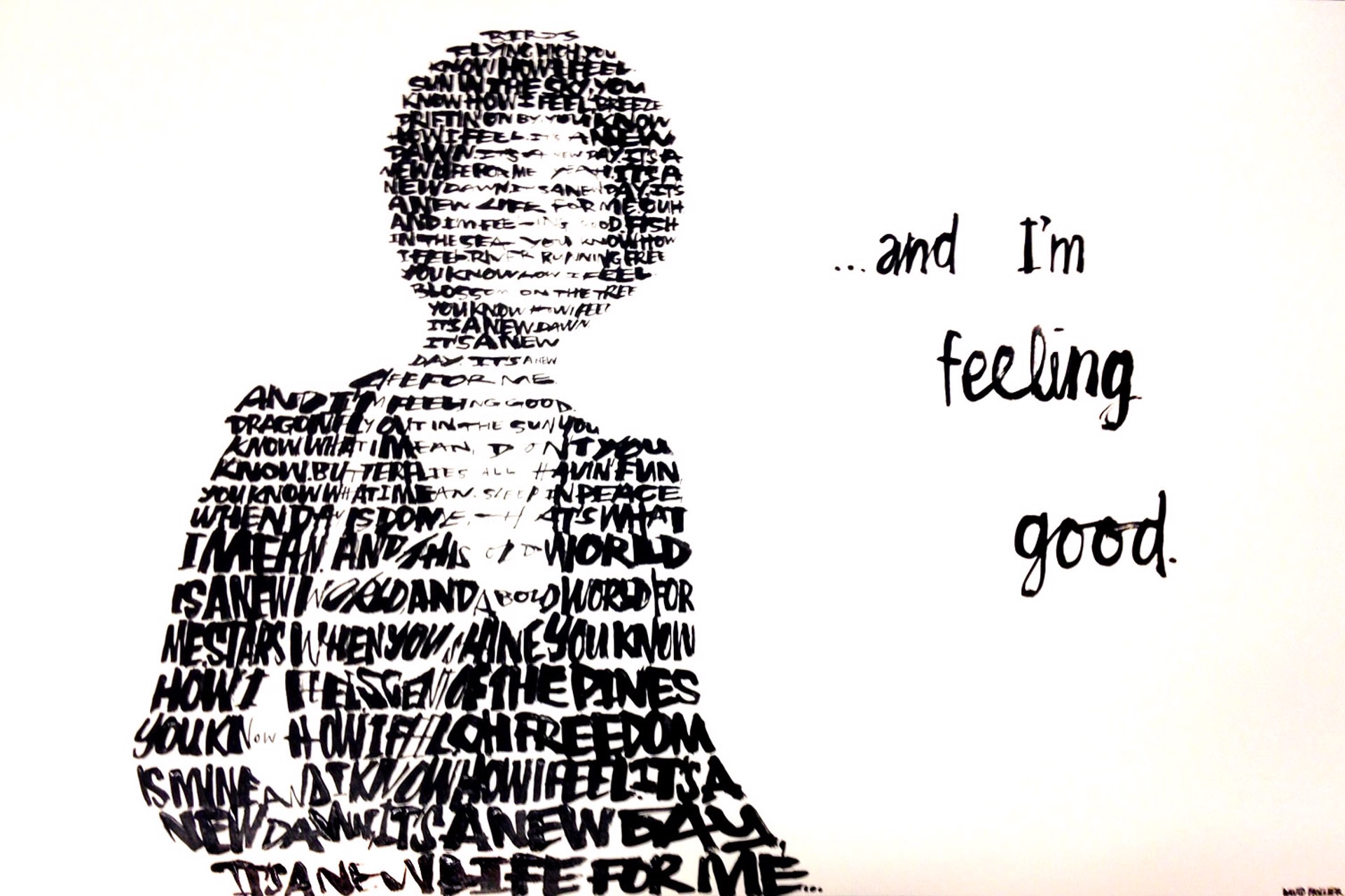 Nina Simone - (Text: 'Feeling Good' by Nina Simone) by David Hollier