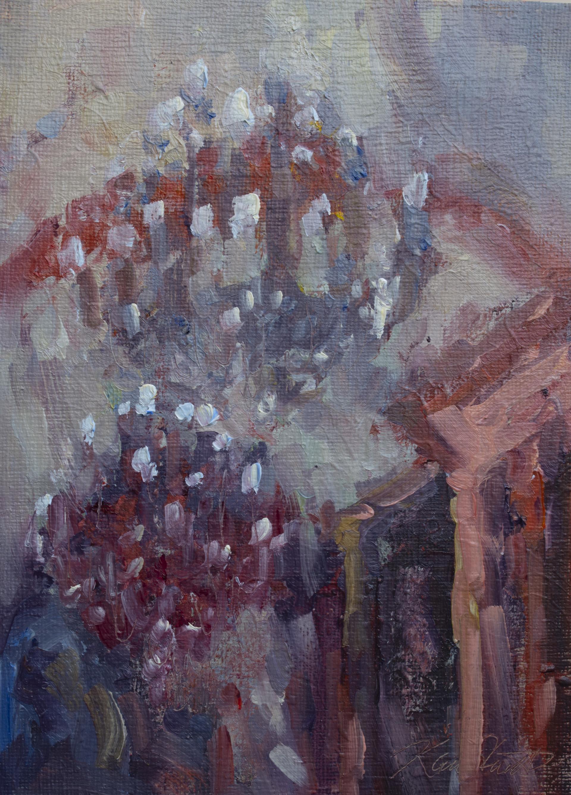 Little Red Chandelier by Karen Hewitt Hagan