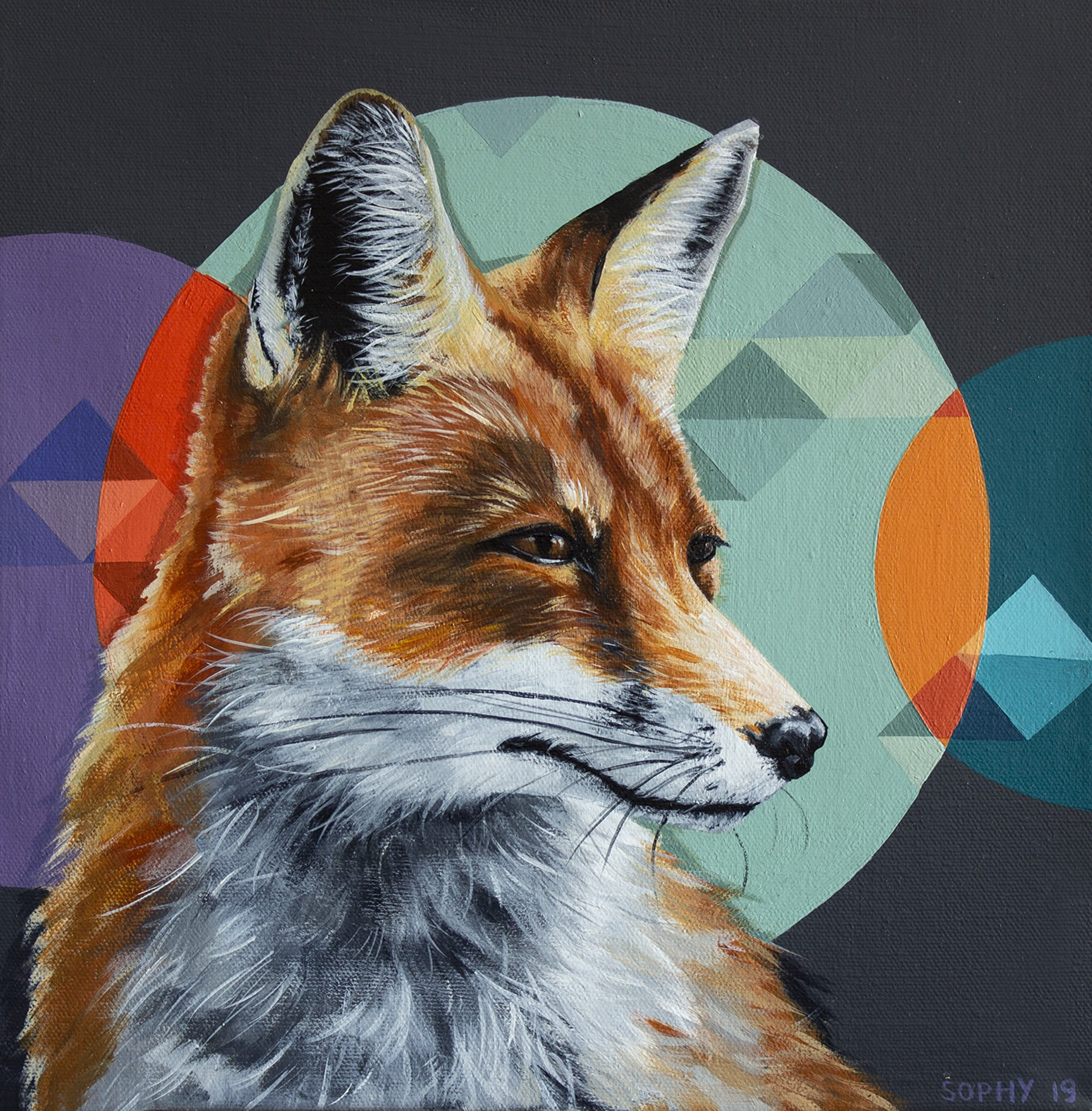 Red Fox Circles by Sophy Tuttle