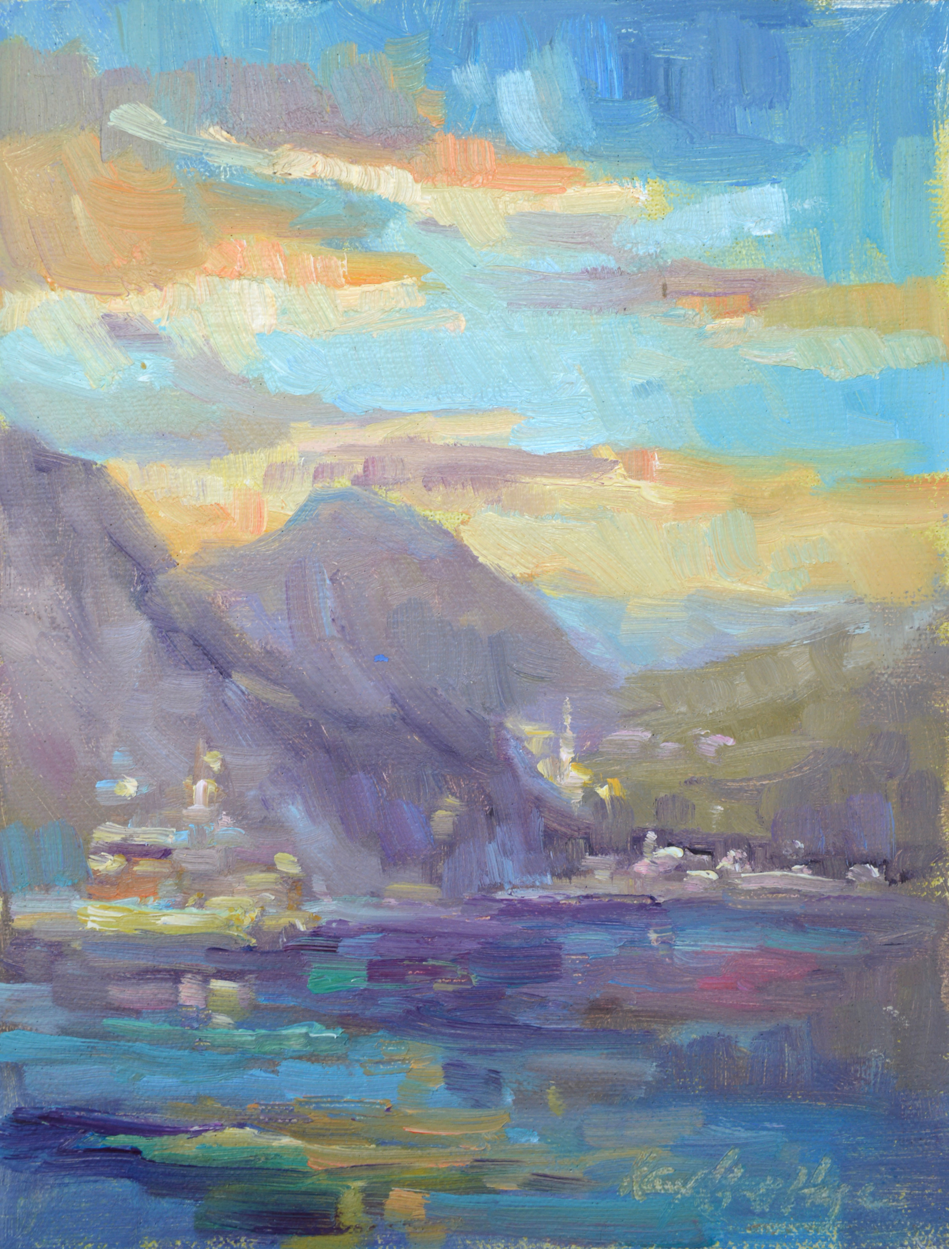 Sunset at Bellagio by Karen Hewitt Hagan