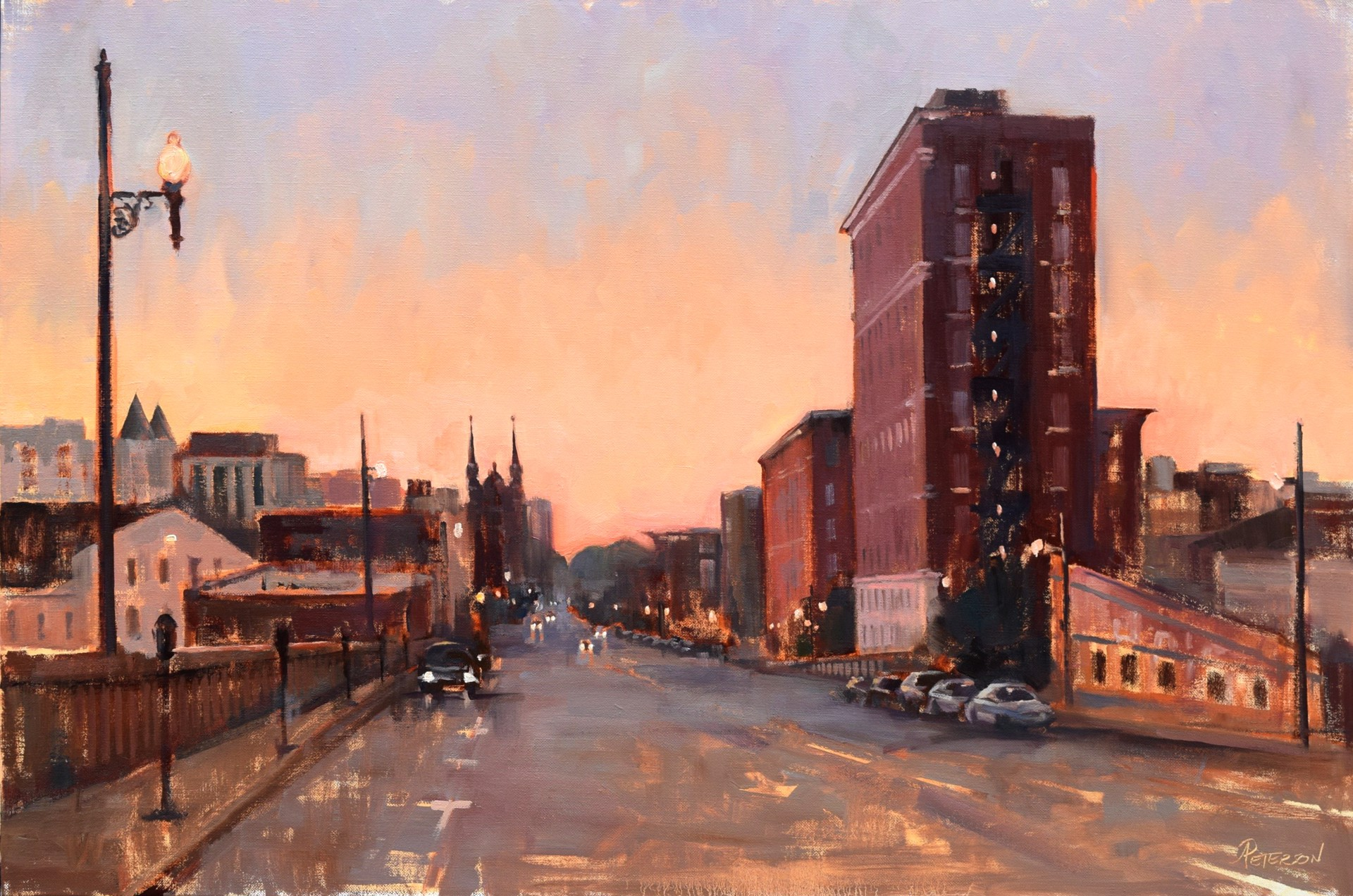 Brick and Mortar Sunset (22nd Street Birmingham) by Amy R. Peterson