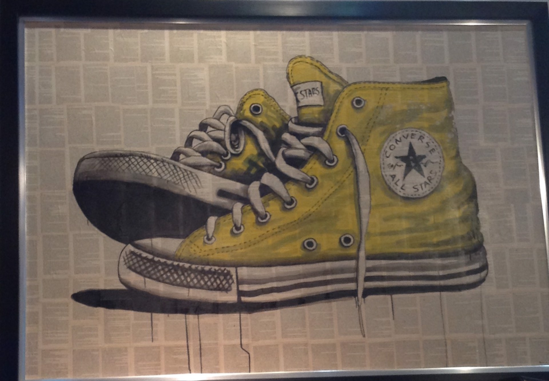 Shoescape Yellow Converse by David Mir