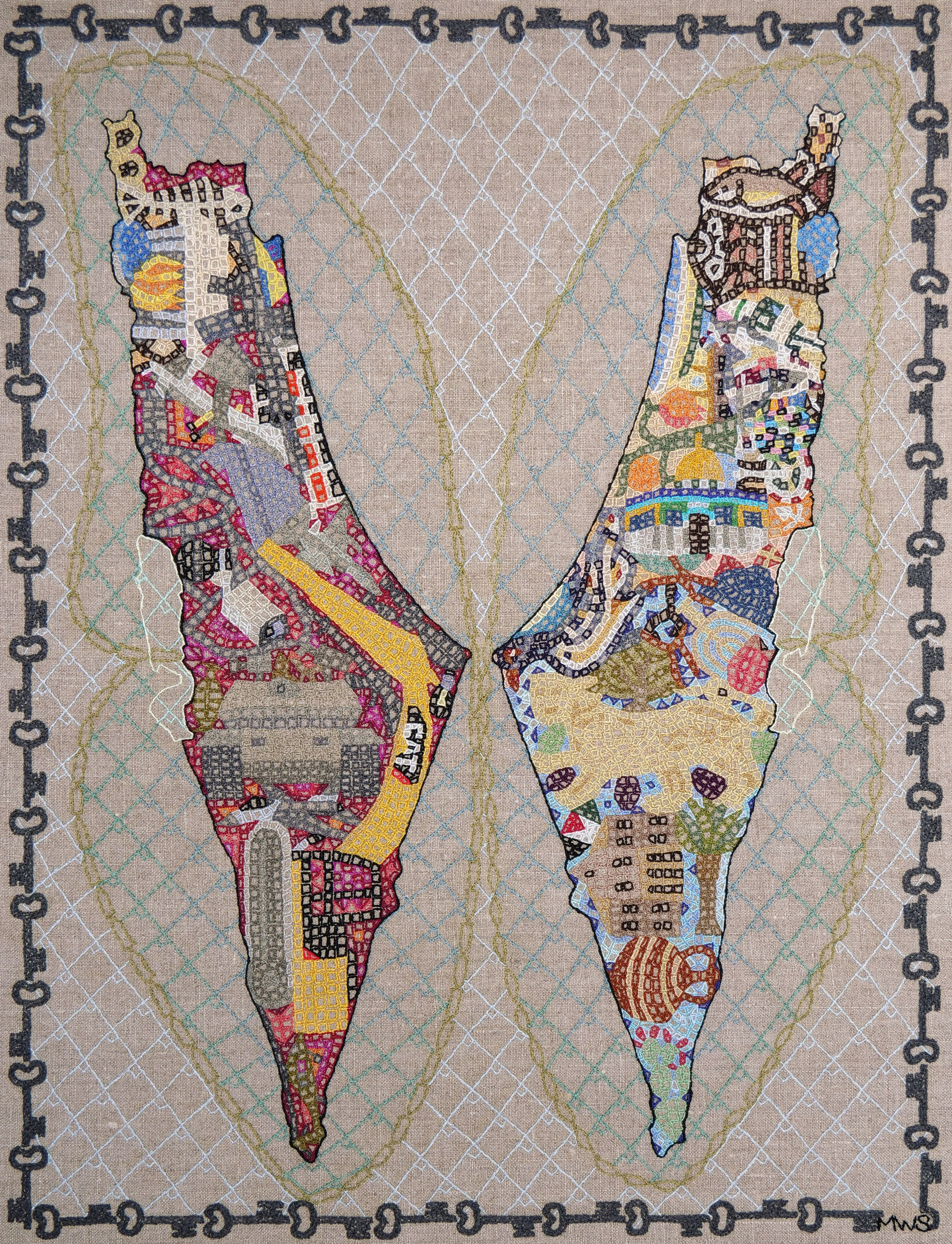 I See Palestine Apart - Hide (This) Map by Martha Shade