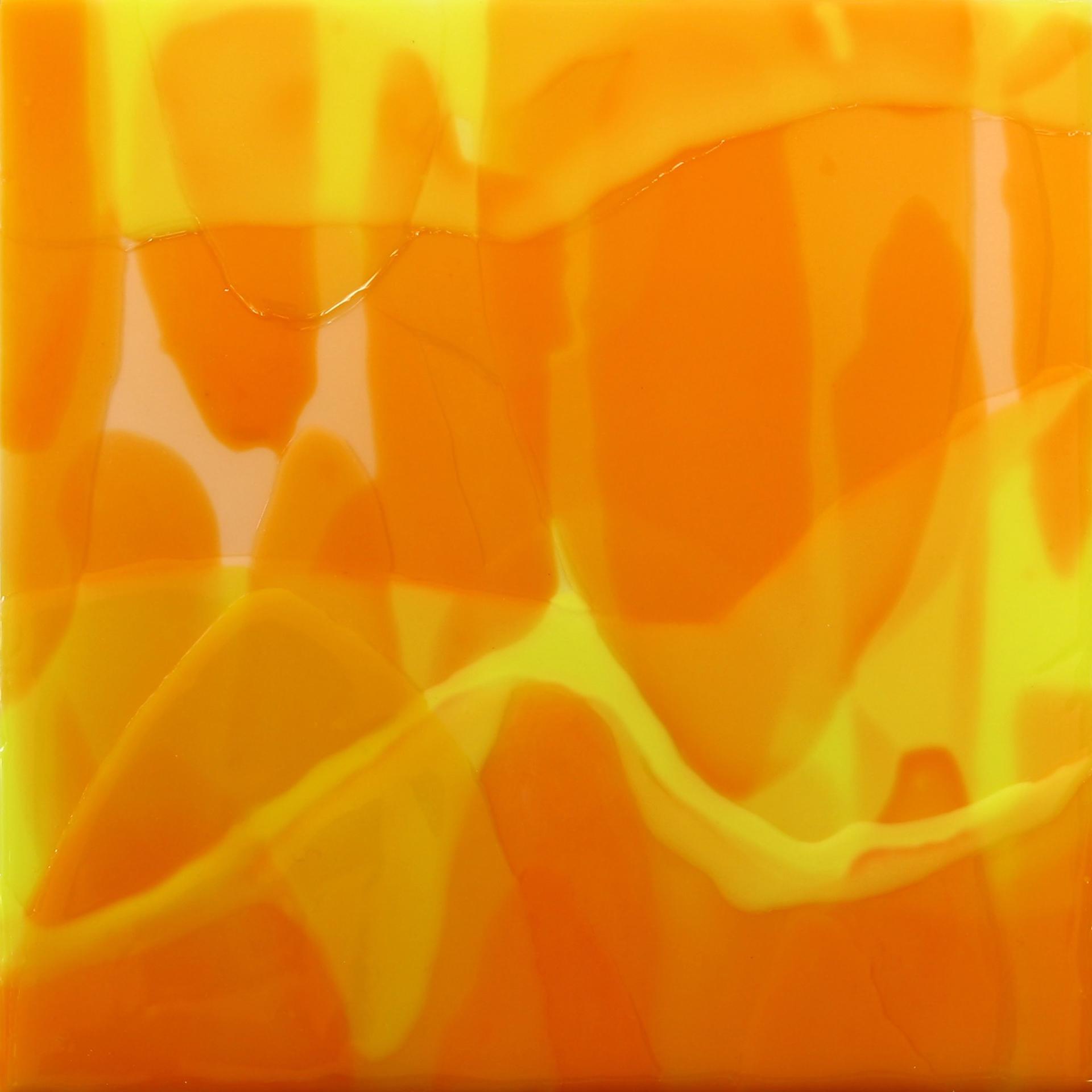 Yellow-Orange Square by Farida Hughes