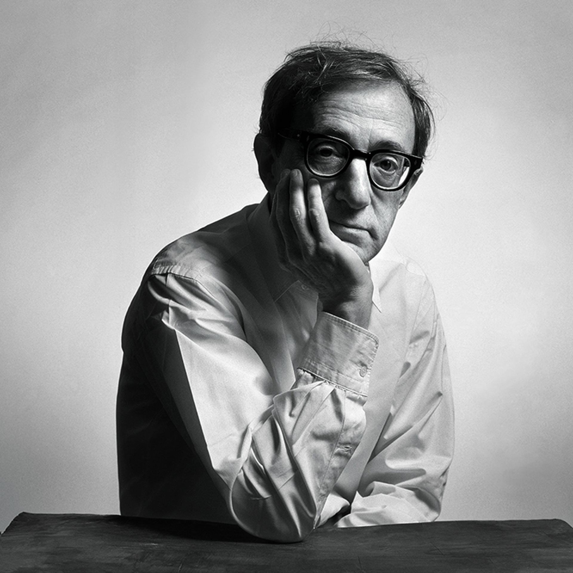 94095 Woody Allen Hand Up BW by Timothy White
