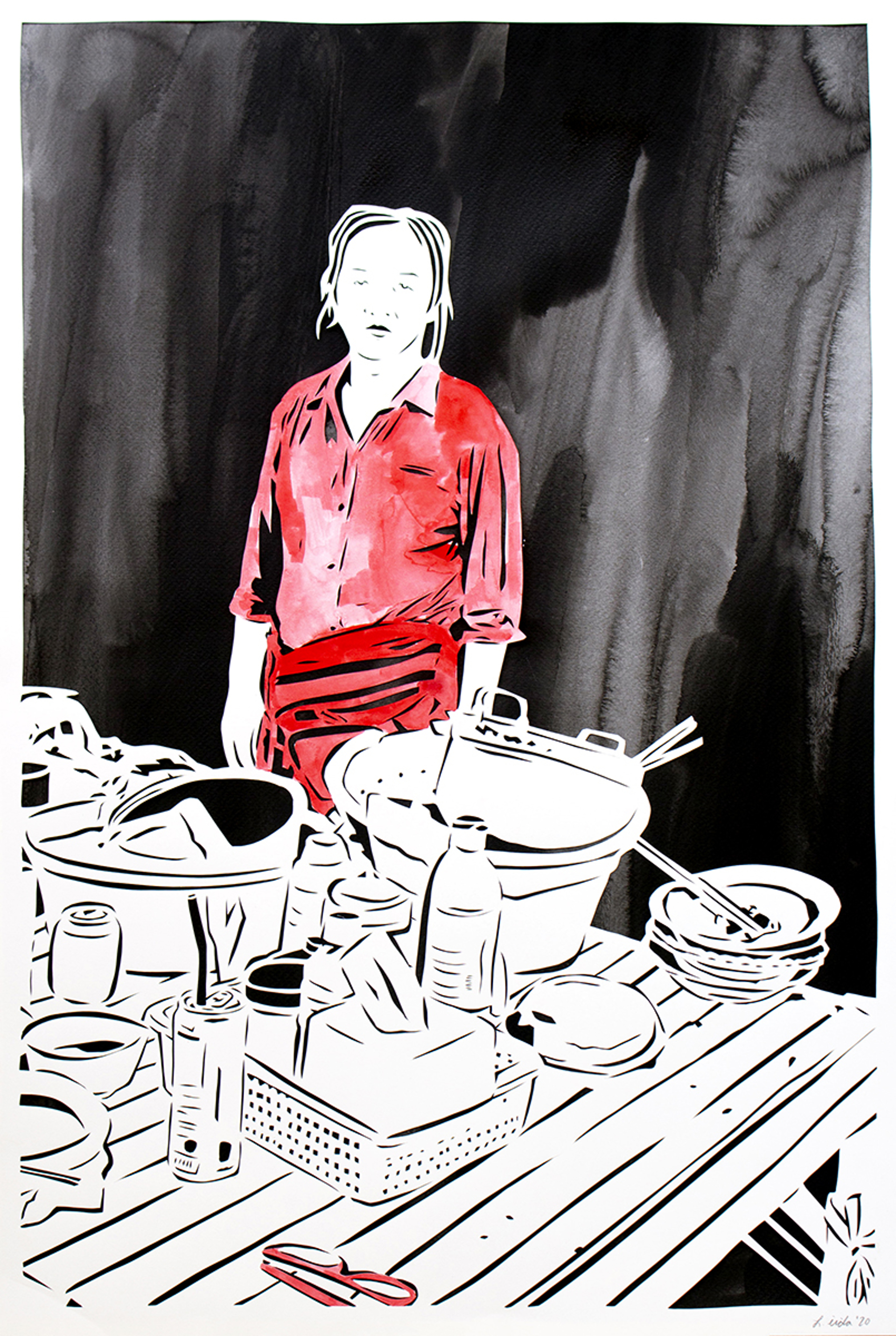 12. Heavy: The Appearance of a Phnom Penh Noodle Seller, Street 258 by Lauren Iida
